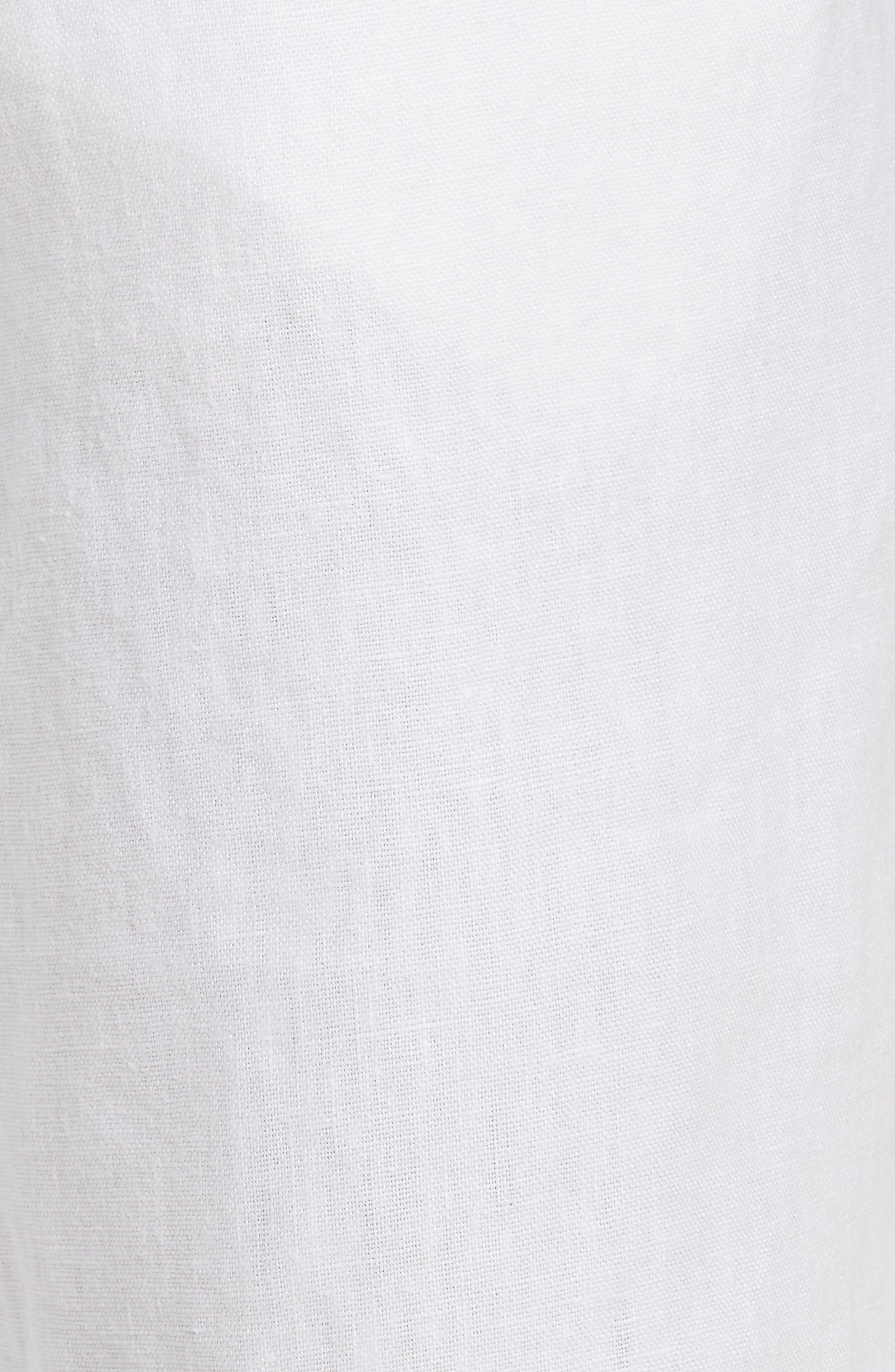 Max Linen Shorts,                             Alternate thumbnail 5, color,                             WHITE