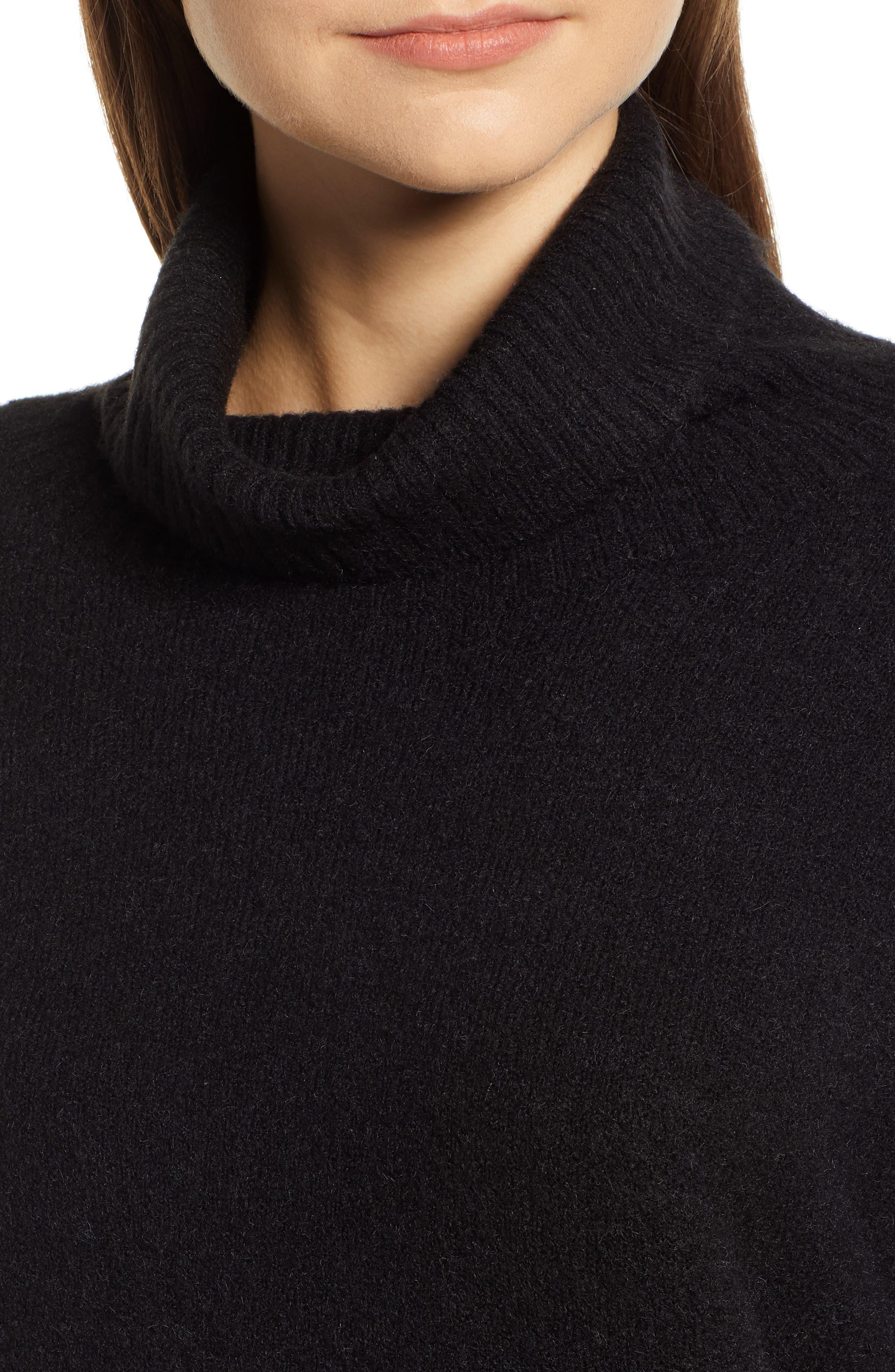 HINGE,                             Bell Sleeve Sweater,                             Alternate thumbnail 4, color,                             BLACK