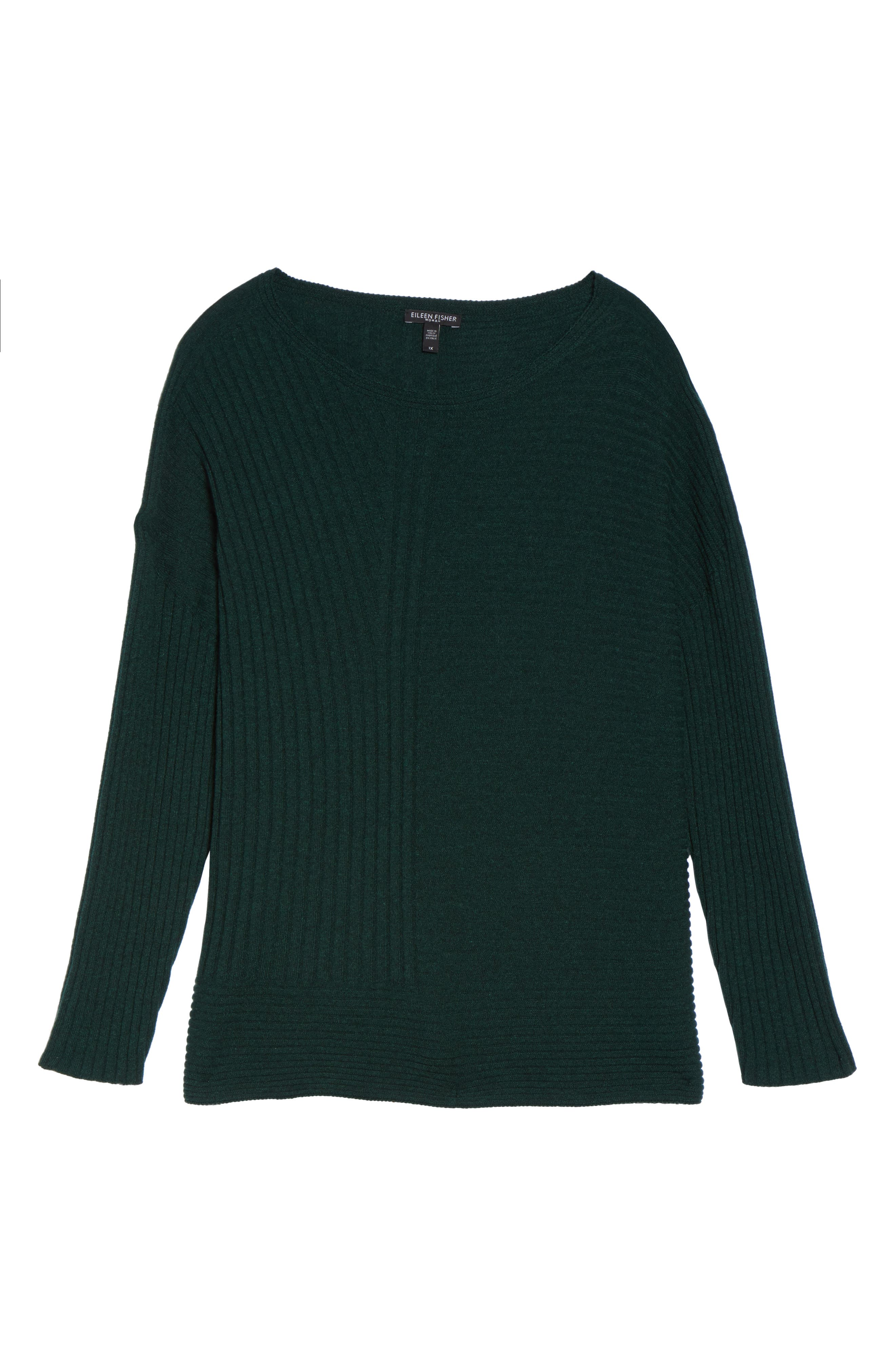 Ribbed Cashmere Sweater,                             Alternate thumbnail 6, color,                             390