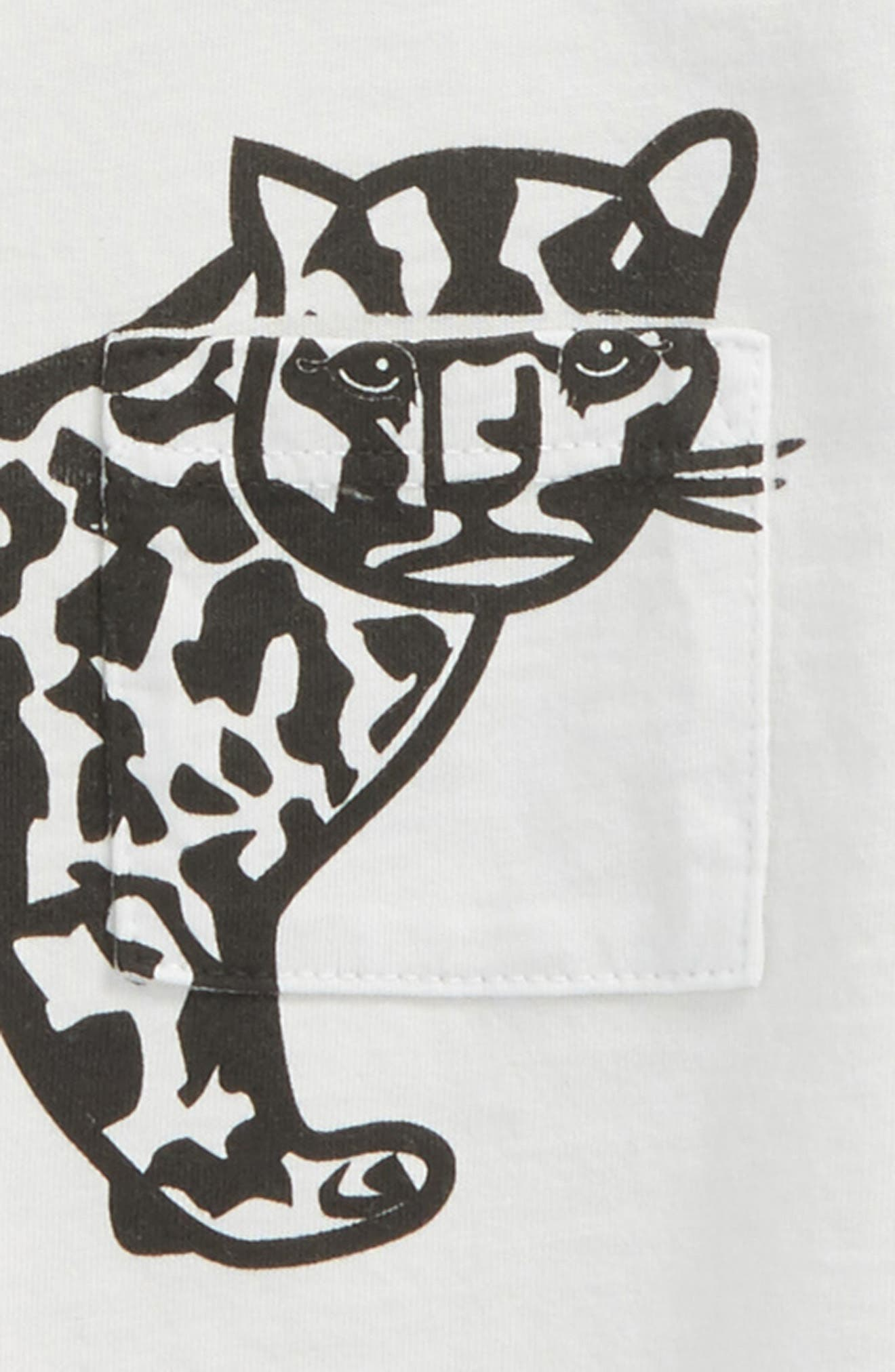 Huxley Leopard Graphic Organic Cotton T-Shirt,                             Alternate thumbnail 2, color,                             100