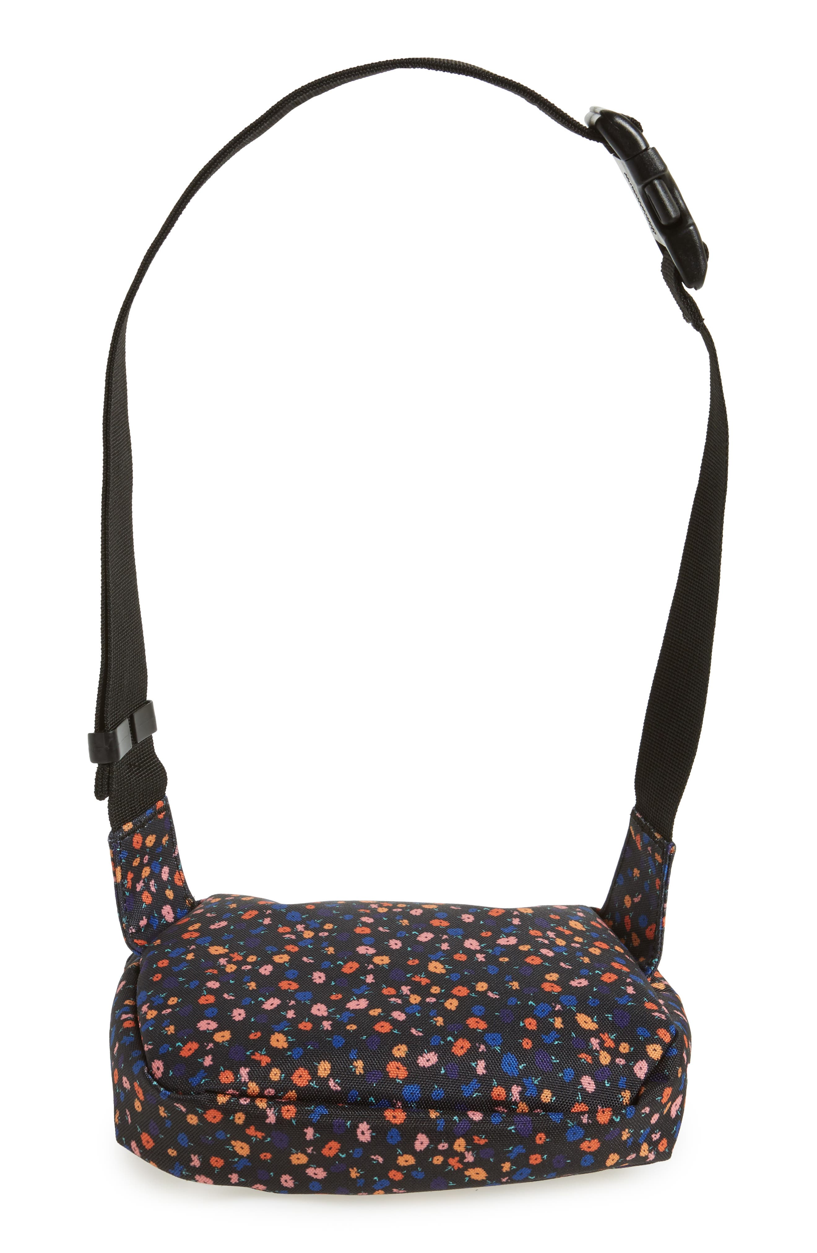 Fifteen Belt Bag,                             Alternate thumbnail 6, color,                             BLACK MINI FLORAL