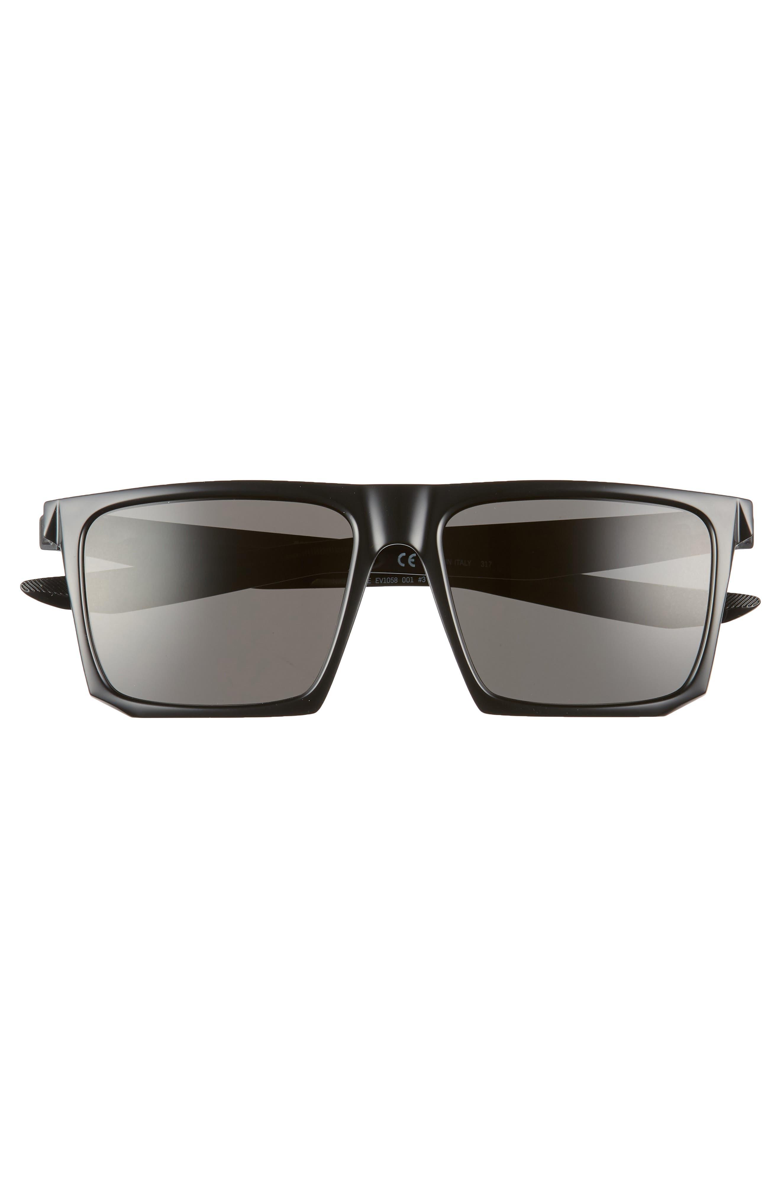 Ledge 56mm Sunglasses,                             Alternate thumbnail 2, color,                             BLACK/ DARK GREY