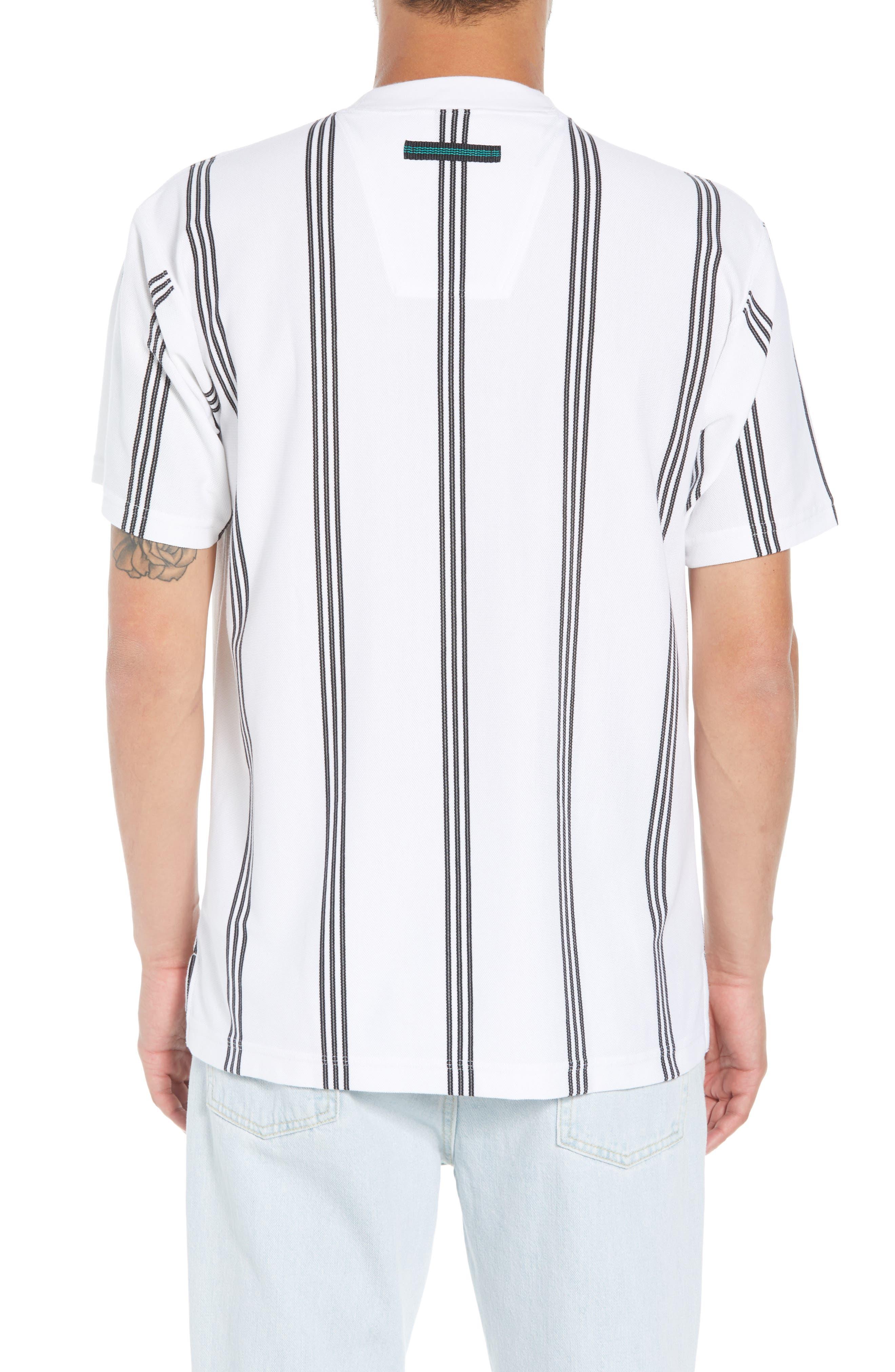 Stripe Tennis T-Shirt,                             Alternate thumbnail 2, color,                             100