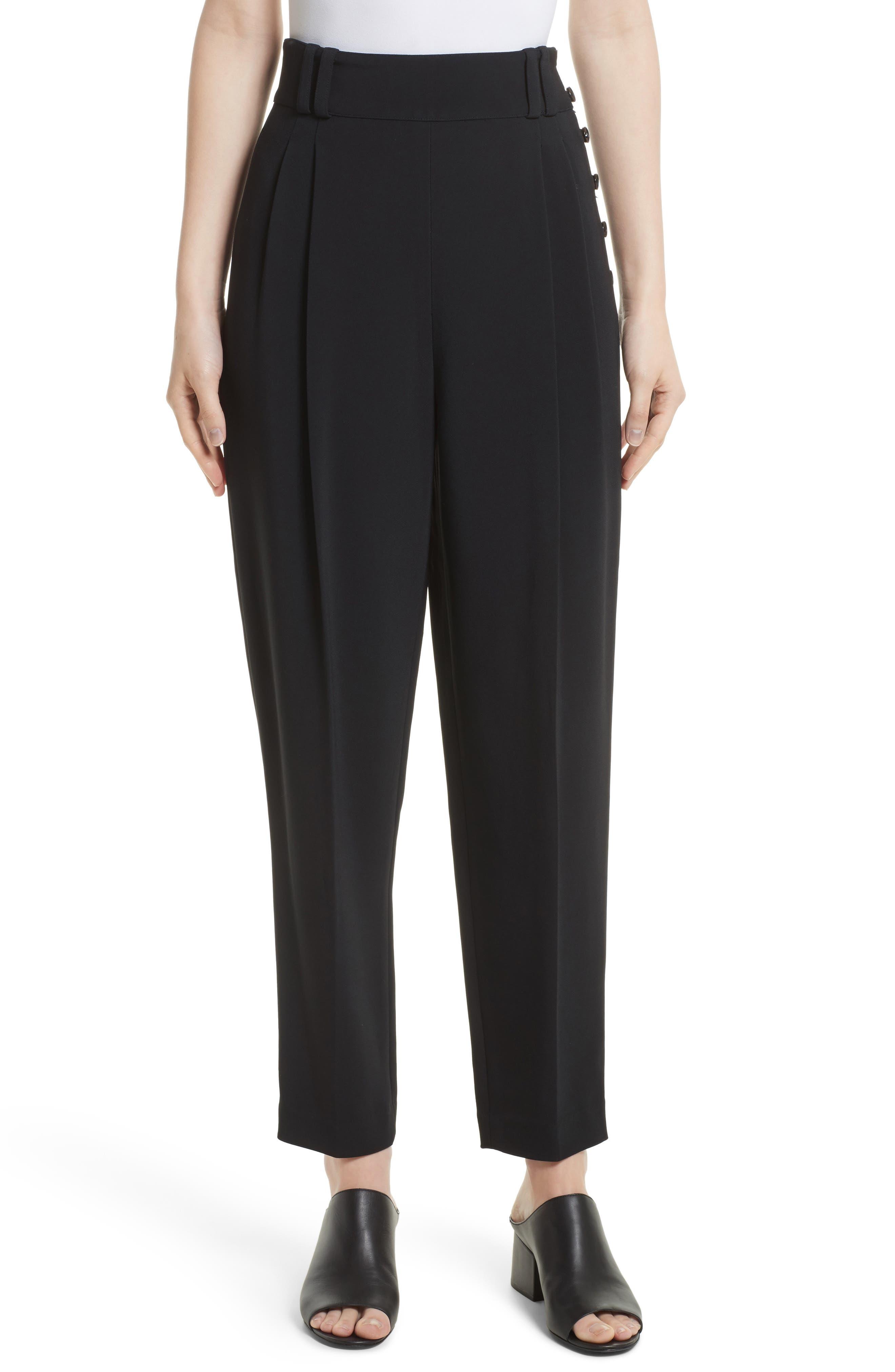 Side Button Crop Pants,                         Main,                         color,