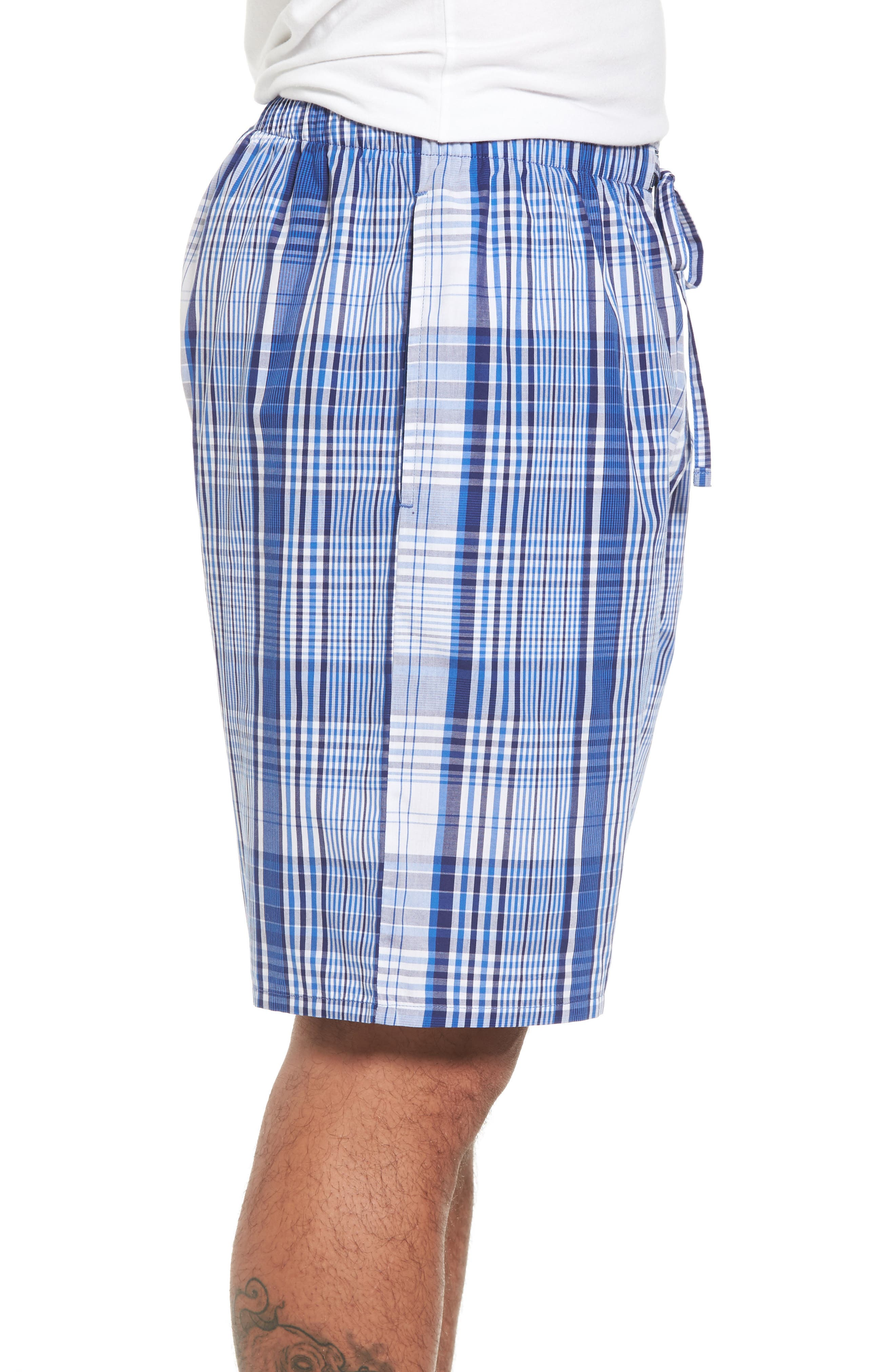 Cotton Pajama Shorts,                             Alternate thumbnail 3, color,                             406
