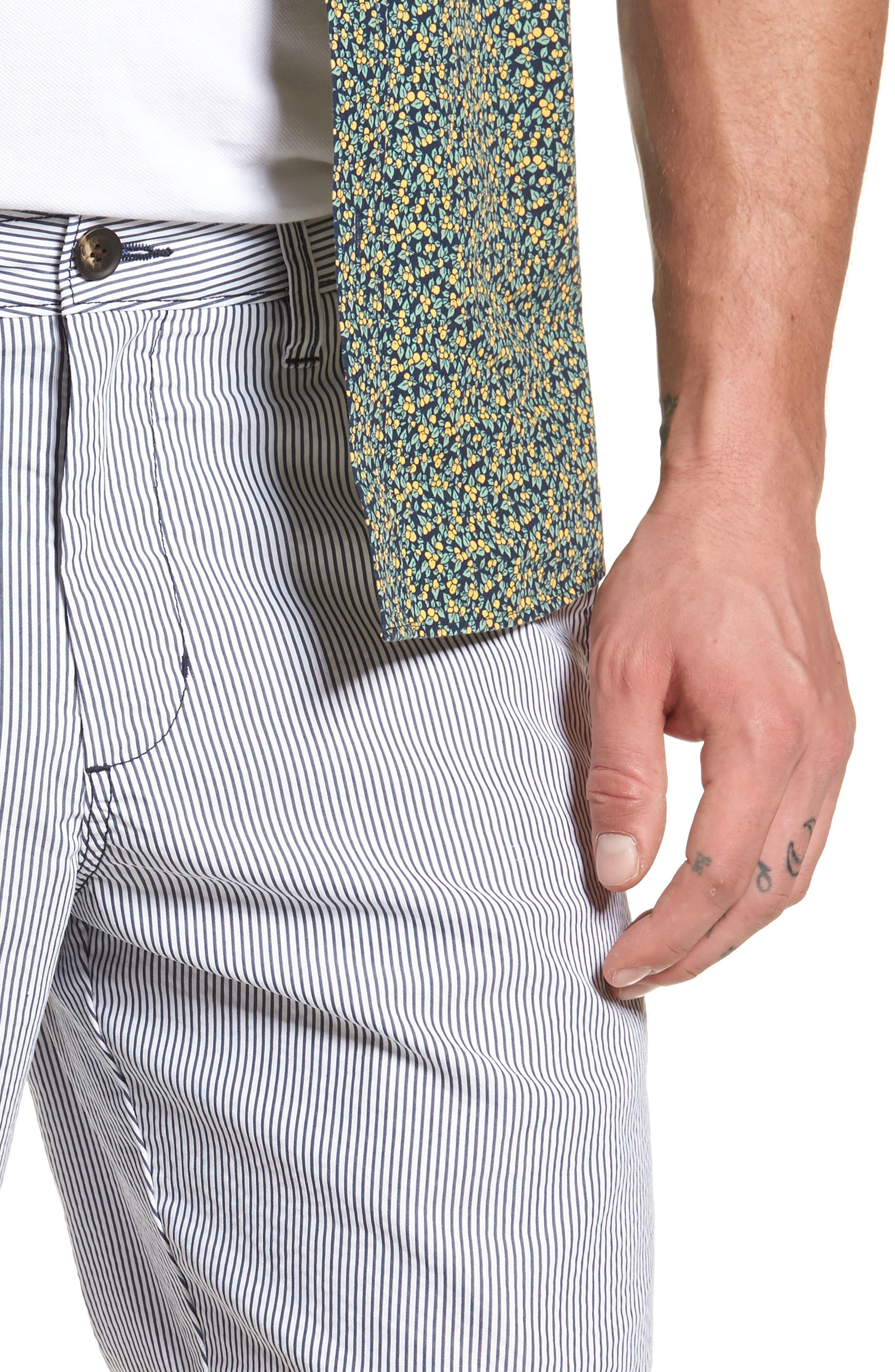 Ballard Slim Fit Seersucker Shorts,                             Alternate thumbnail 4, color,                             410