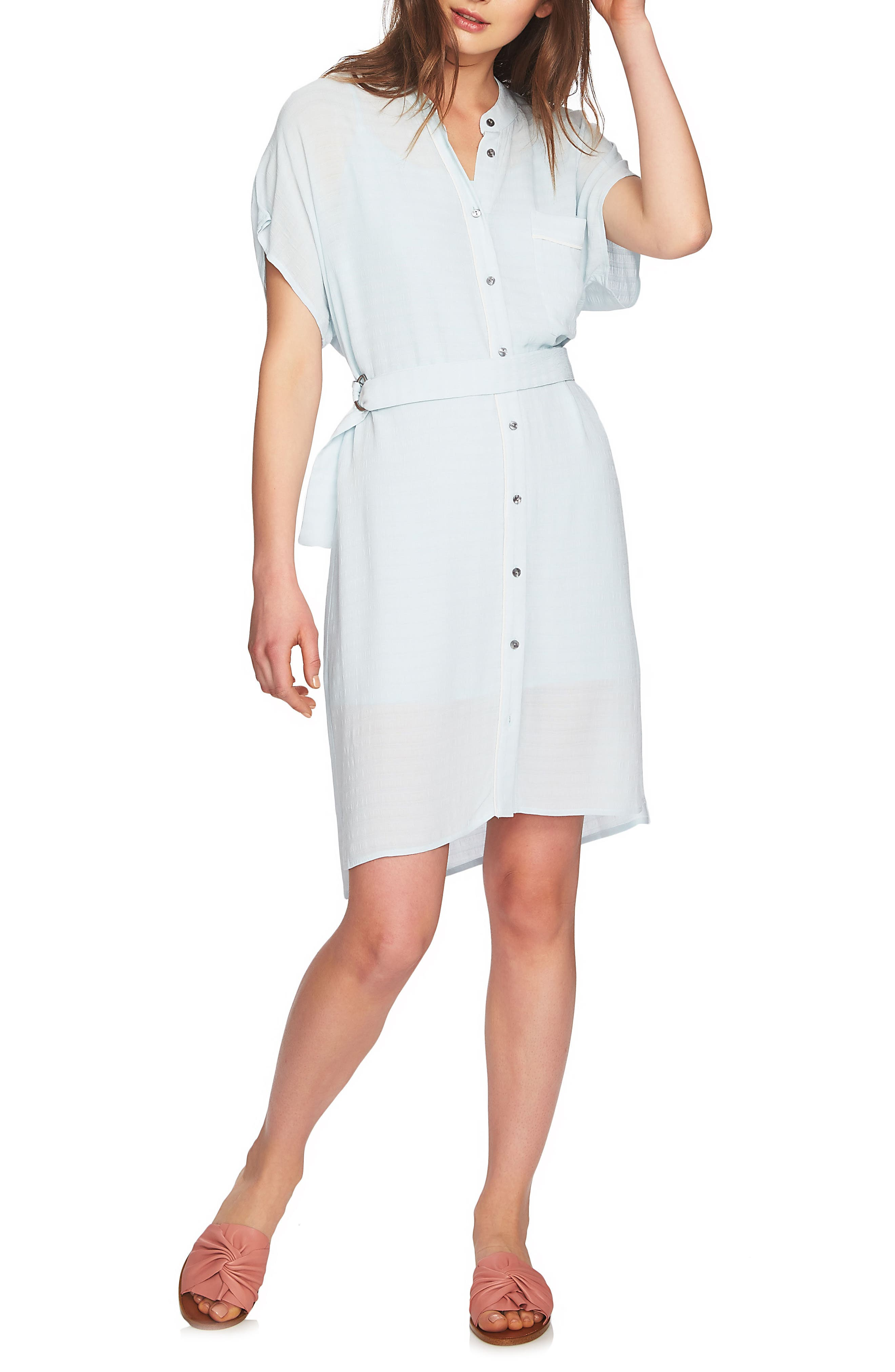 Belted Shirtdress,                             Alternate thumbnail 3, color,                             470