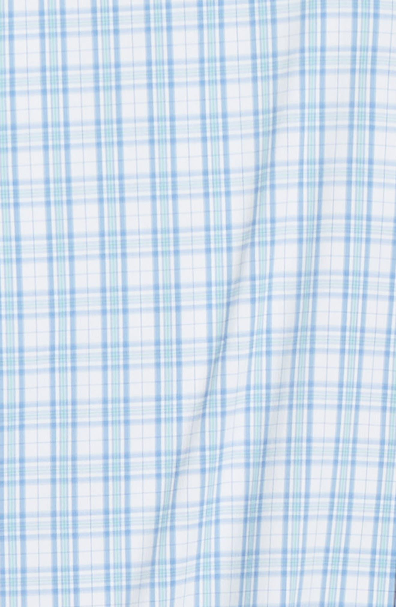 Portofino Tartan Performance Sport Shirt,                             Alternate thumbnail 6, color,                             VESSEL