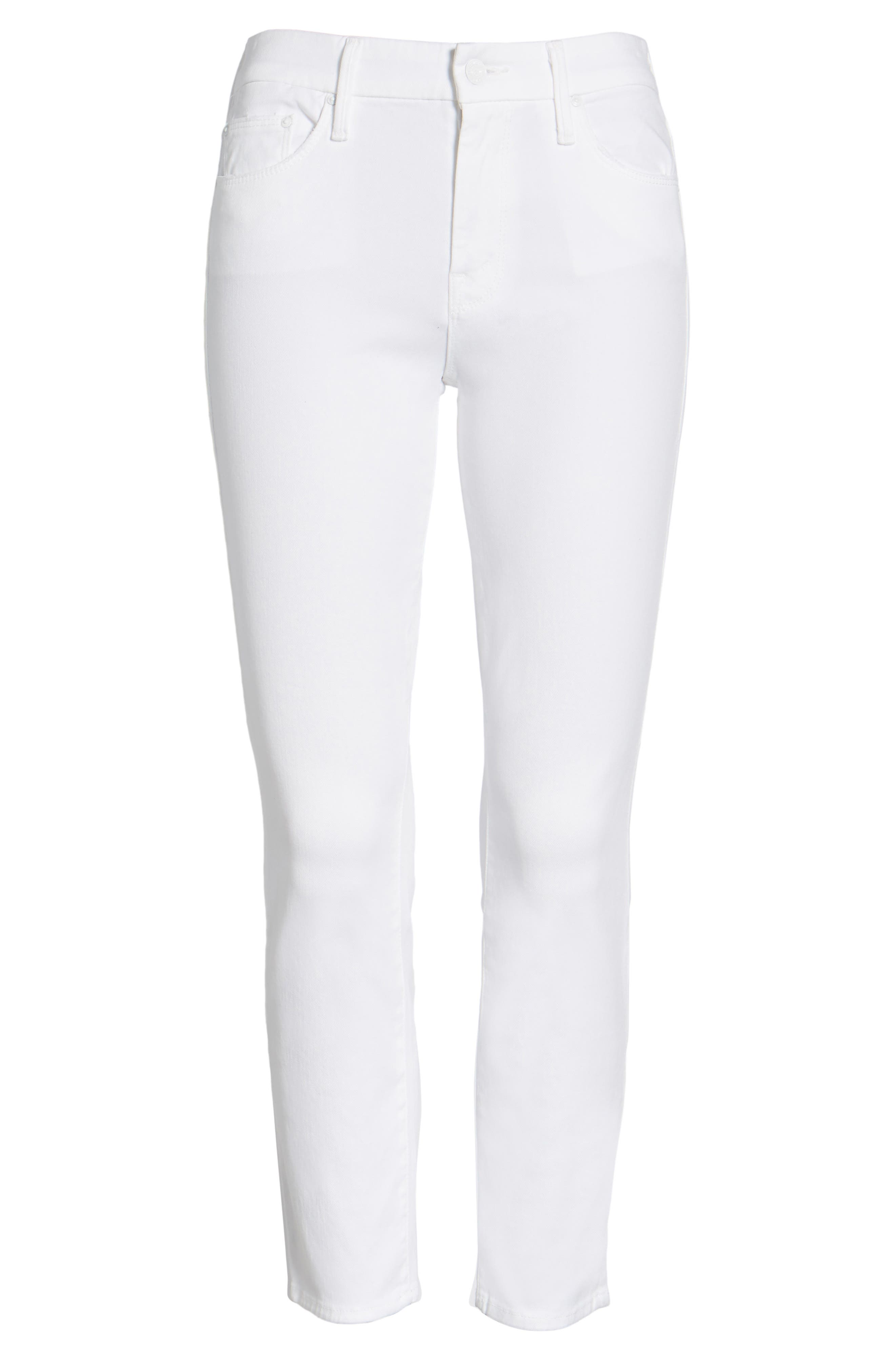 The Looker Crop Jeans,                             Alternate thumbnail 7, color,                             GLASS SLIPPER