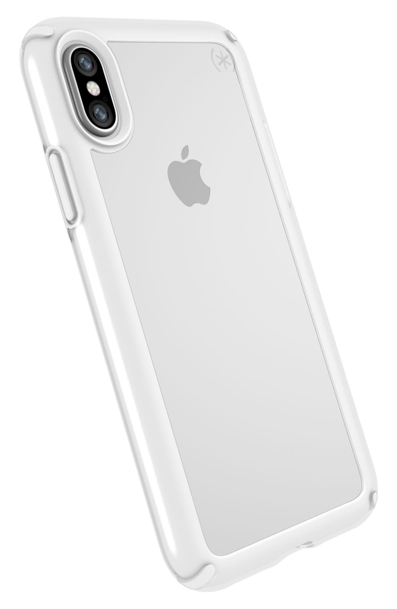 Transparent iPhone X & Xs Case,                             Alternate thumbnail 8, color,                             CLEAR/ BRIGHT WHITE