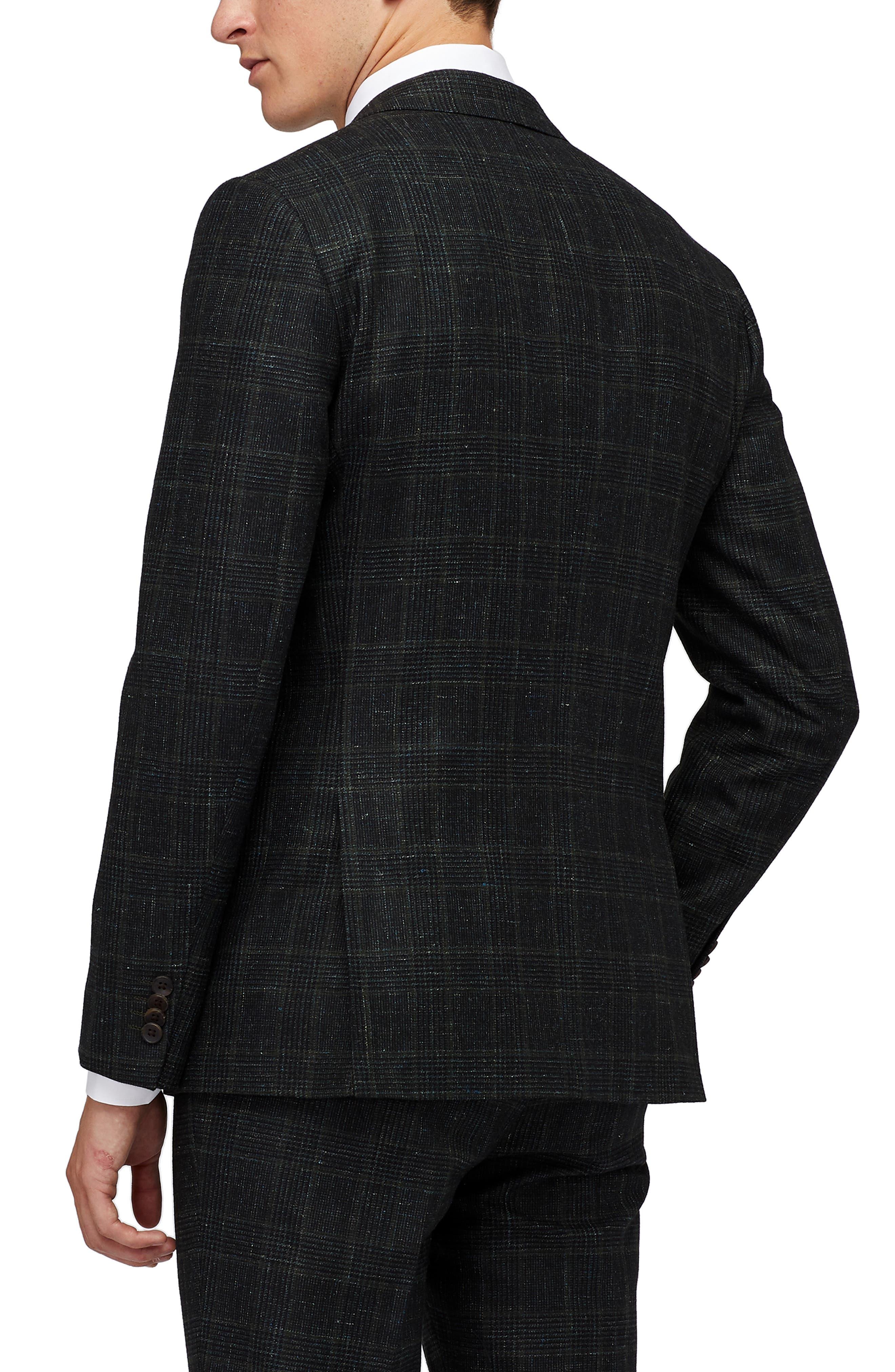Premium Slim Fit Glen Plaid Wool & Linen Sport Coat,                             Alternate thumbnail 2, color,                             HAYDEN GREEN GLENPLAID