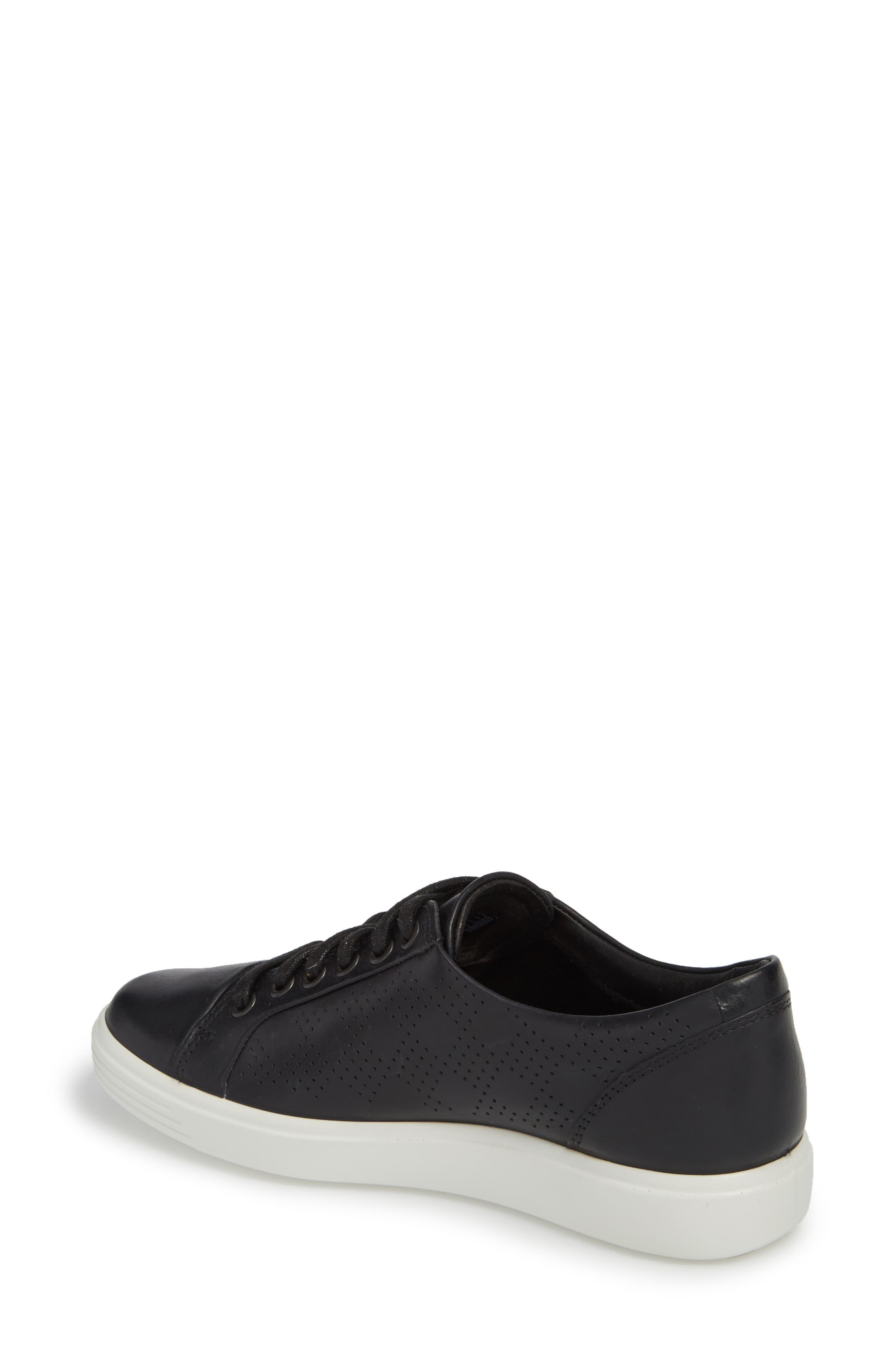 Soft 7 Sneaker,                             Alternate thumbnail 2, color,                             BLACK LEATHER