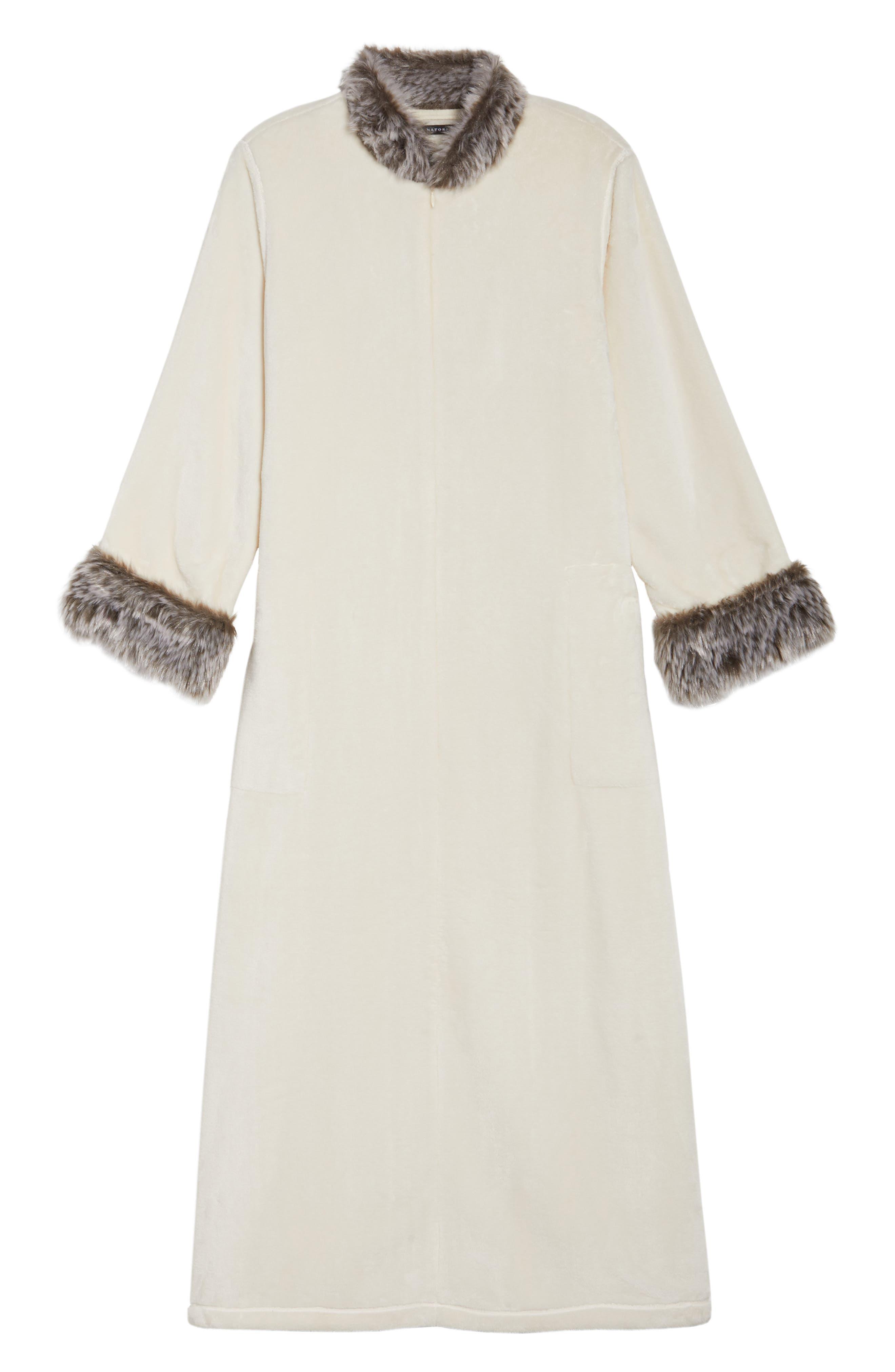 Fleece & Faux Fur Caftan,                             Alternate thumbnail 12, color,