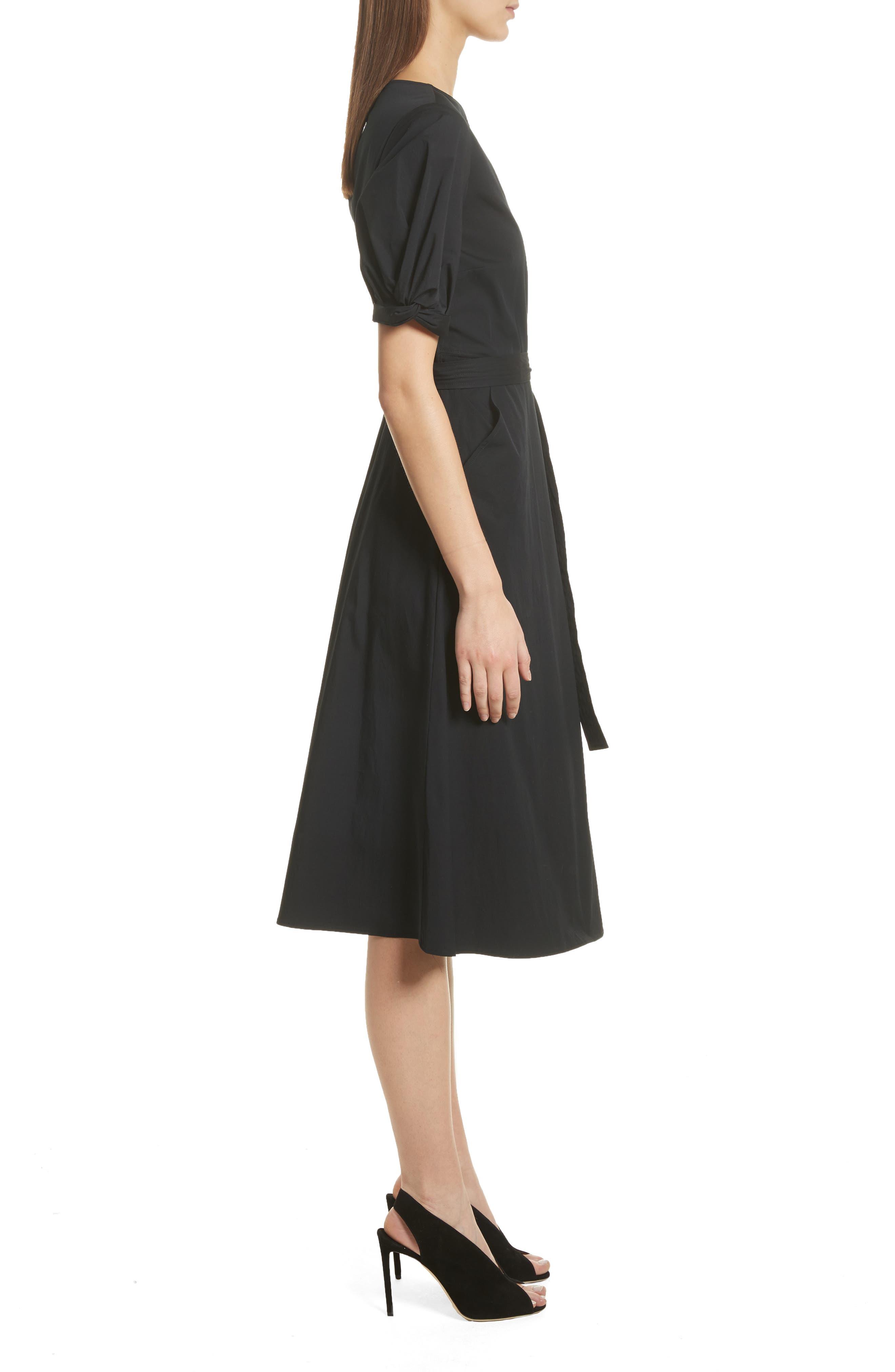 Meghan Wrap Dress,                             Alternate thumbnail 3, color,                             001