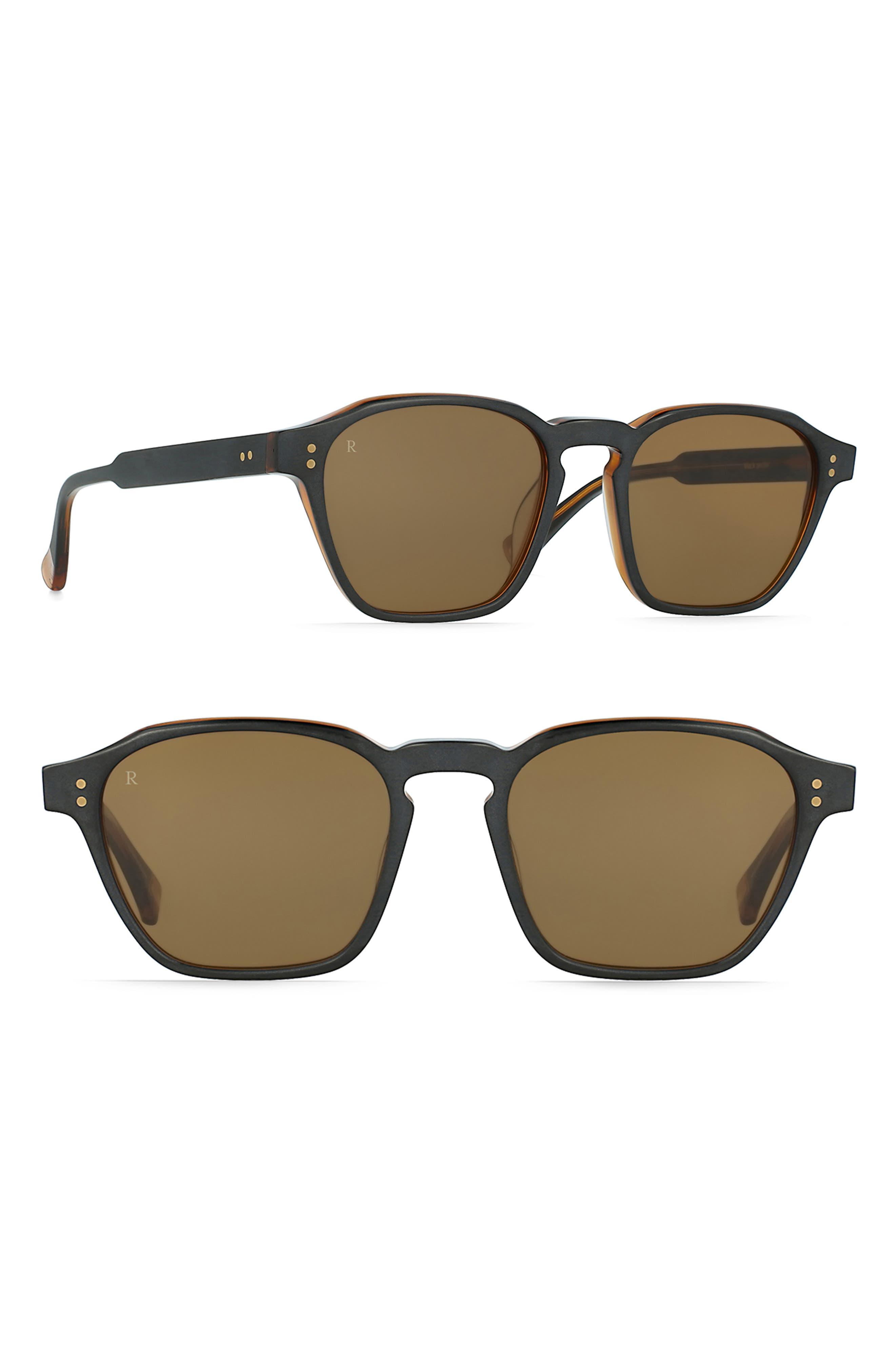RAEN Aren 50Mm Sunglasses - Black/ Tan/ Brown