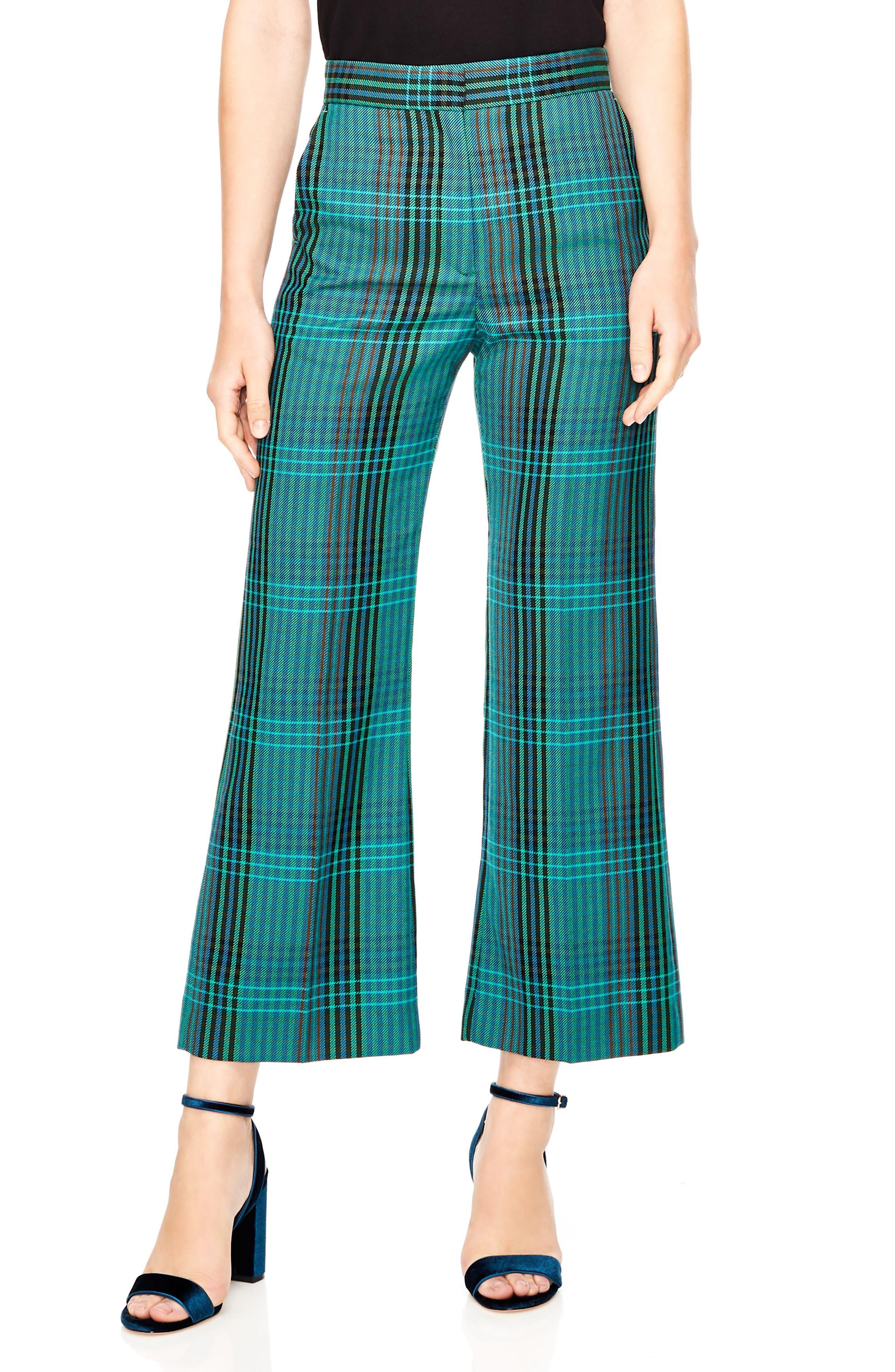 Otis Plaid Crop Pants,                         Main,                         color, MULTI