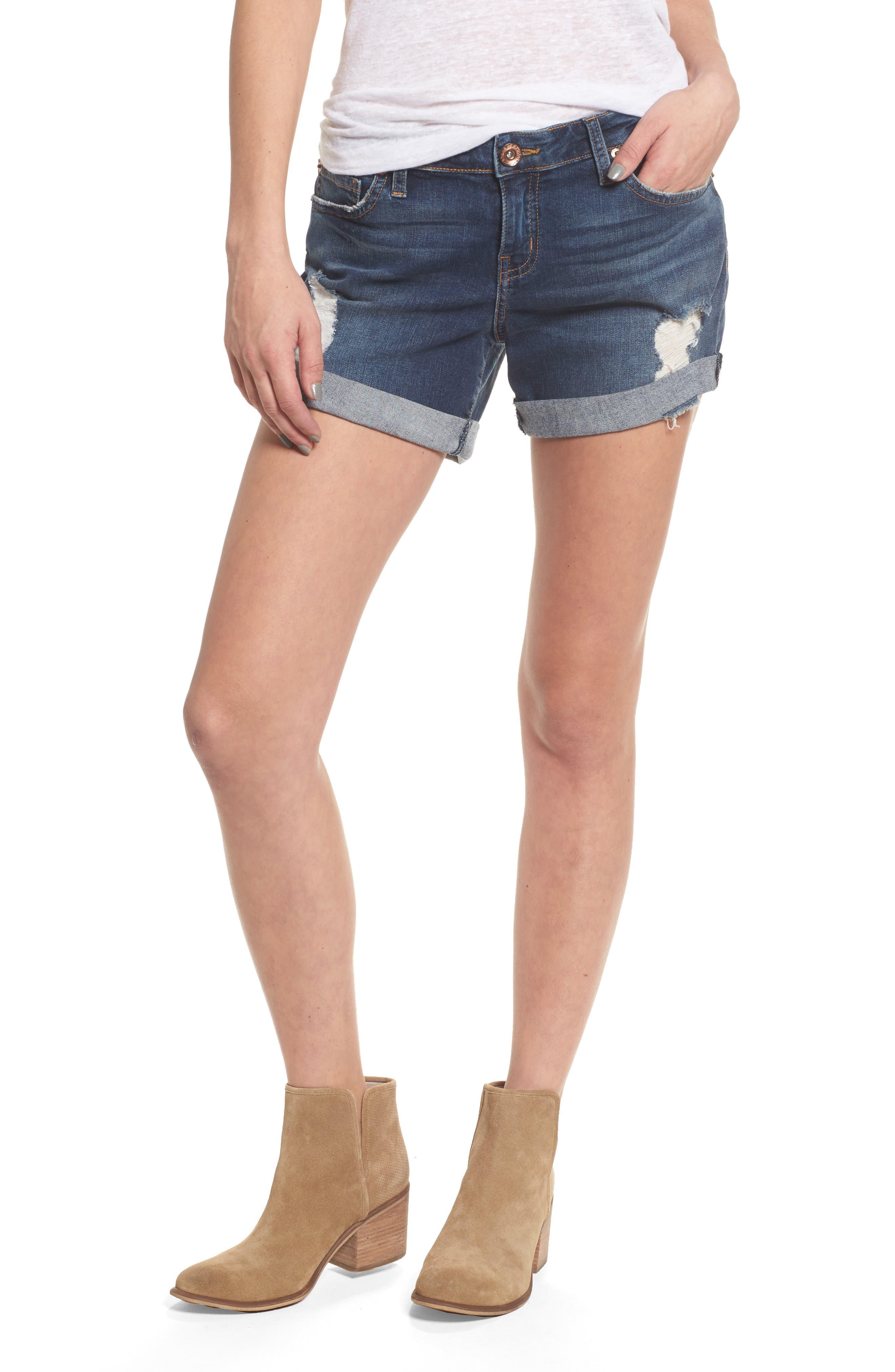 Allie Boyfriend Denim Shorts,                         Main,                         color, 400