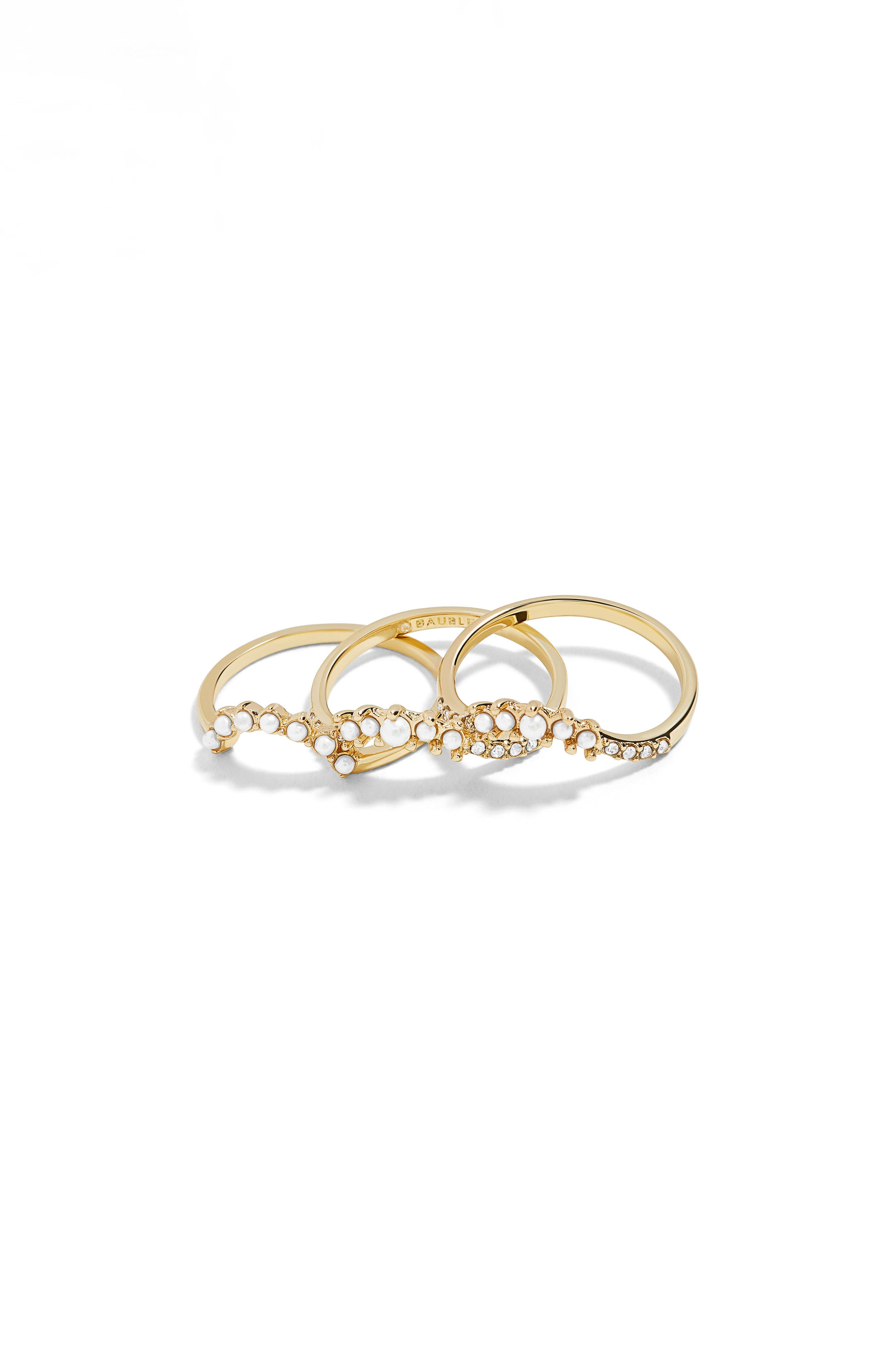 Dynasty Set of 3 Rings,                         Main,                         color, GOLD