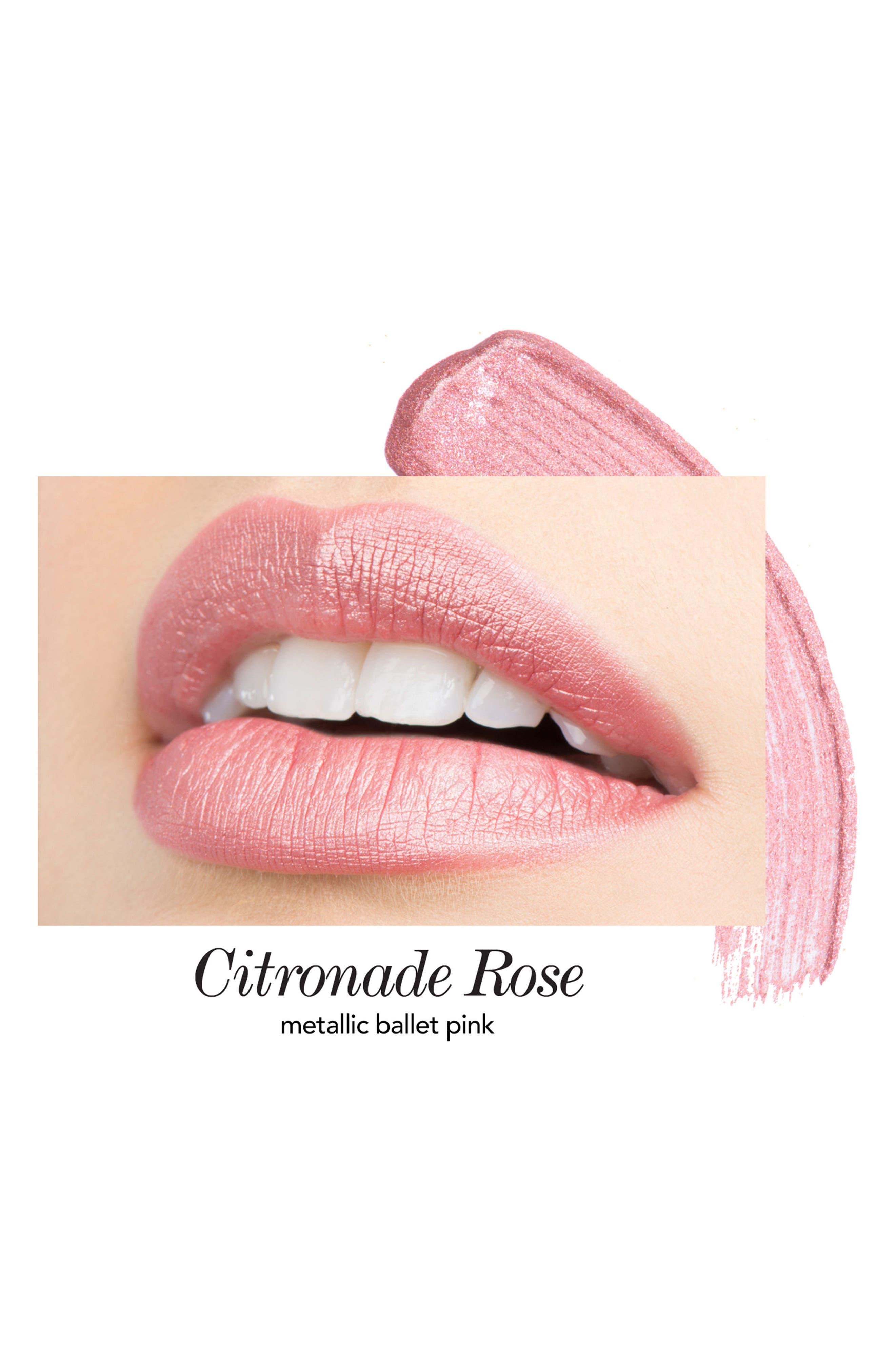Melon & Citronade Rose Long-Wear Lip Crème Liquid Lipstick Duo,                             Alternate thumbnail 5, color,