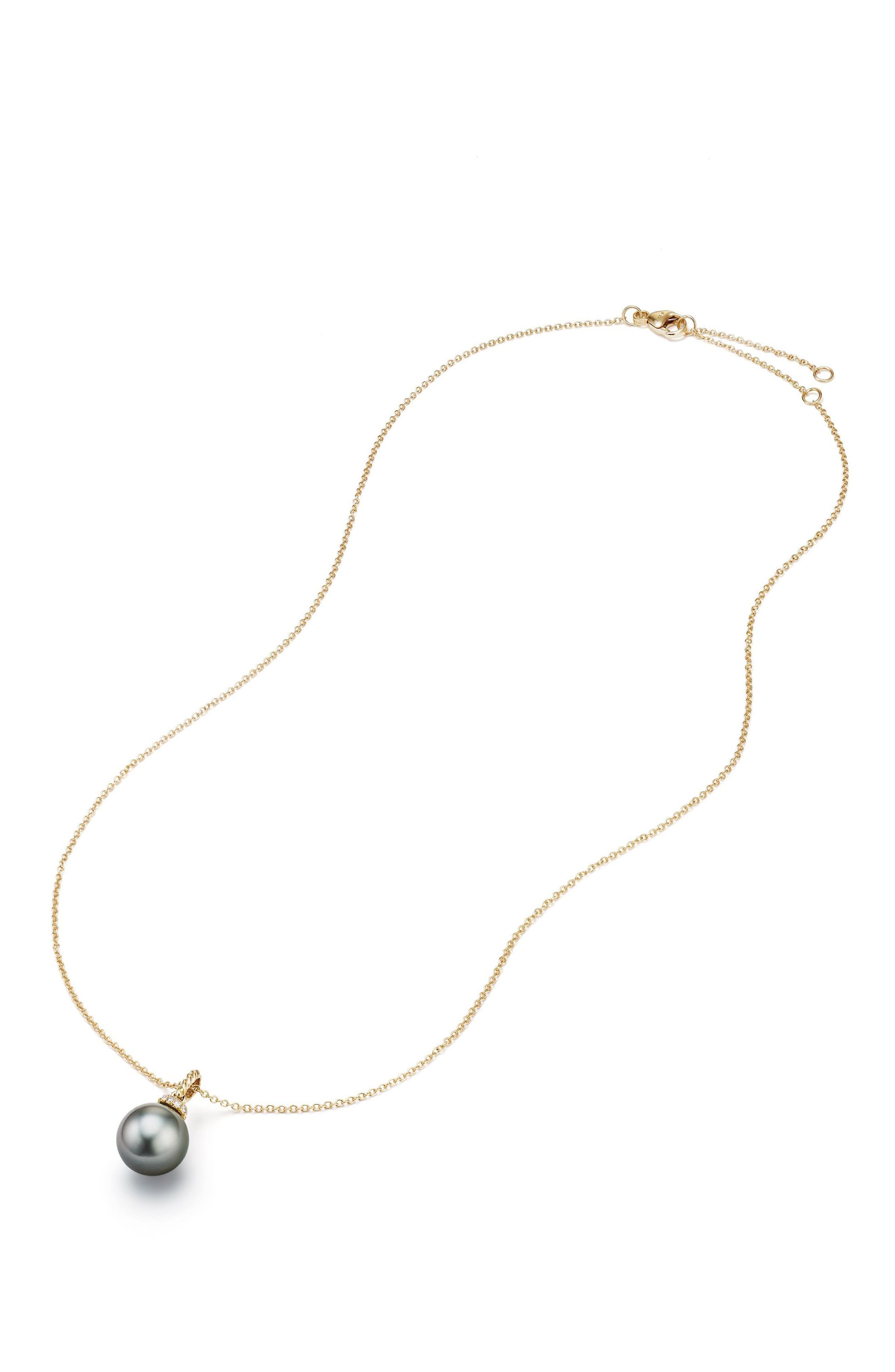Solari Pendant Necklace with Diamonds,                             Alternate thumbnail 2, color,                             GOLD/ DIAMOND/ GREY PEARL