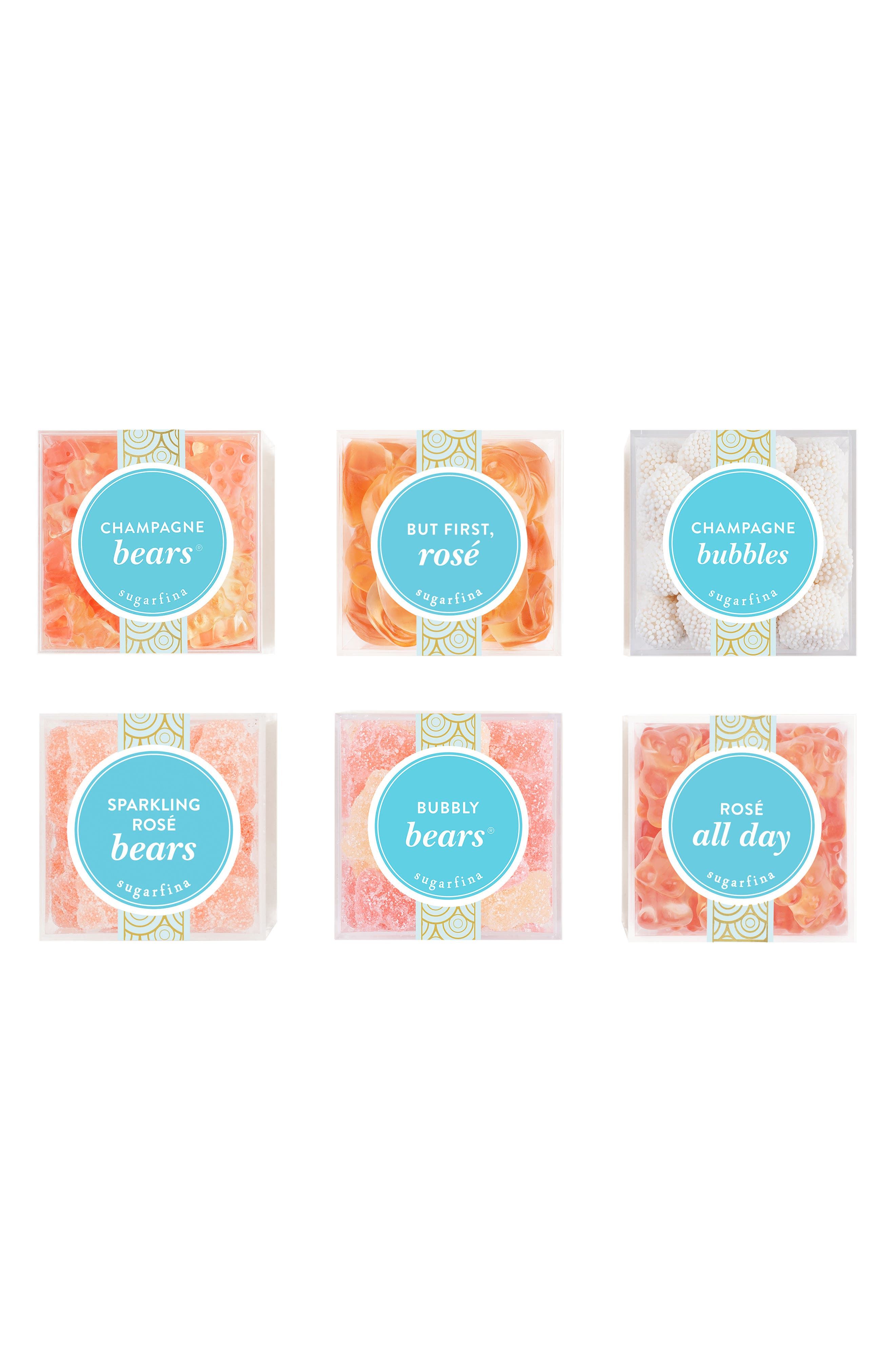 Set of 6 Cocktail Favorites Candy Boxes,                             Main thumbnail 1, color,                             PINK