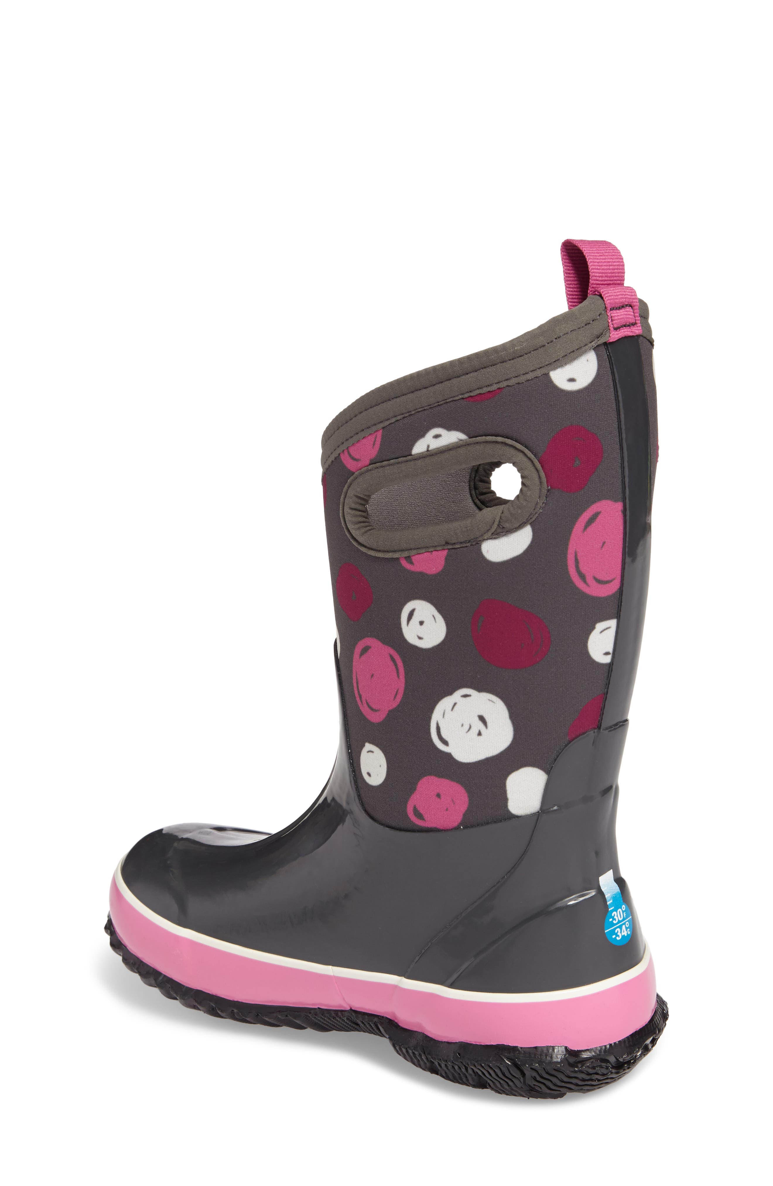 Classic Sketched Dots Insulated Waterproof Boot,                             Alternate thumbnail 6, color,