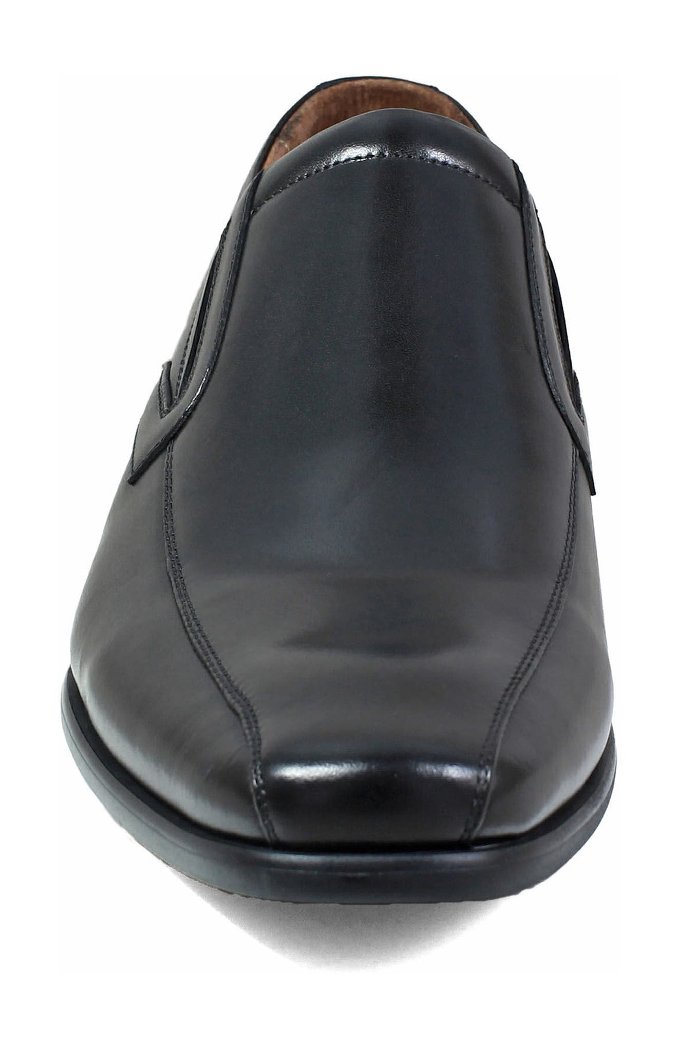 Postino Bike Toe Slip-On,                             Alternate thumbnail 4, color,                             BLACK LEATHER