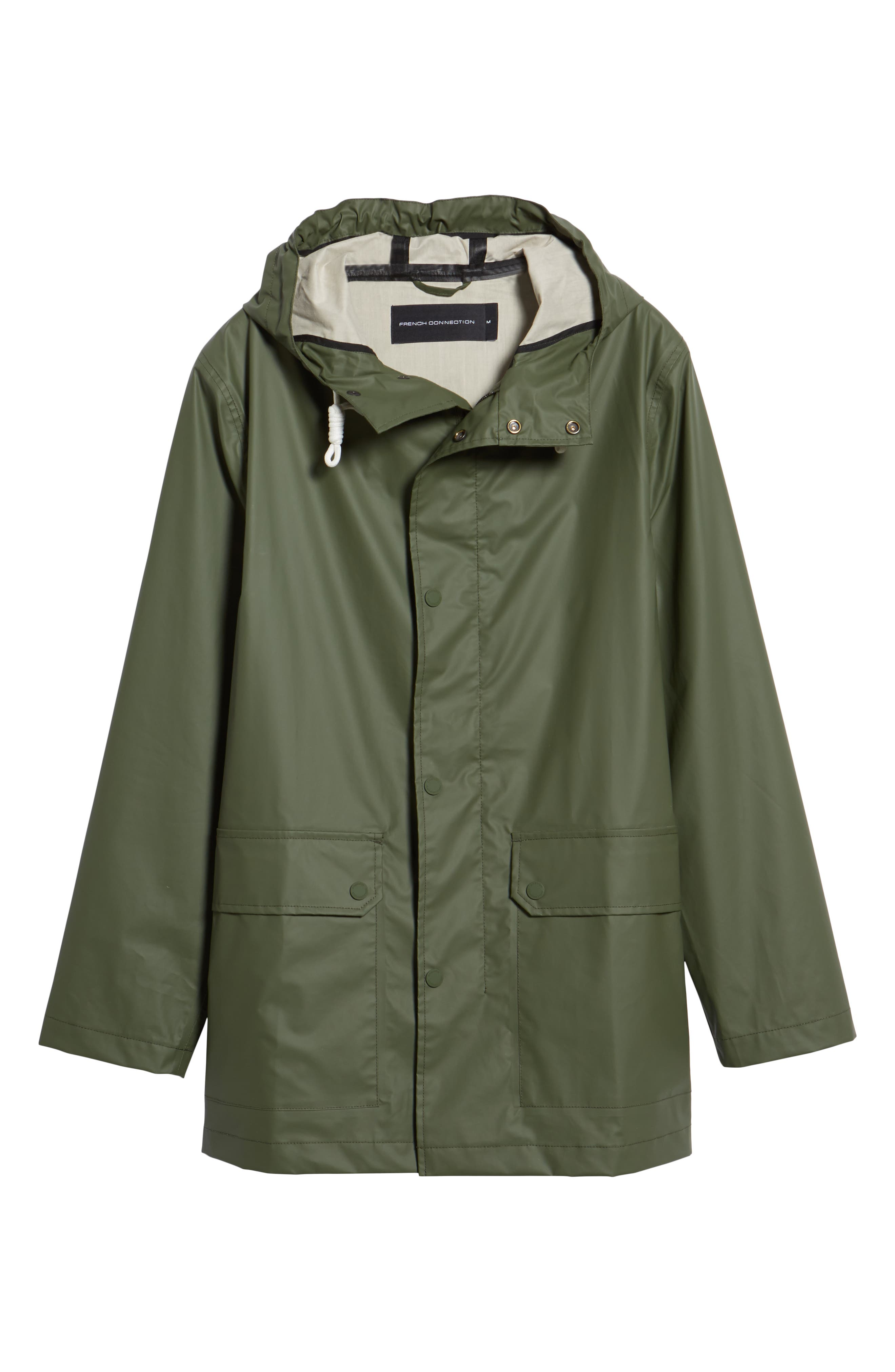 FRENCH CONNECTION,                             Rubber Coated Raincoat,                             Alternate thumbnail 5, color,                             300
