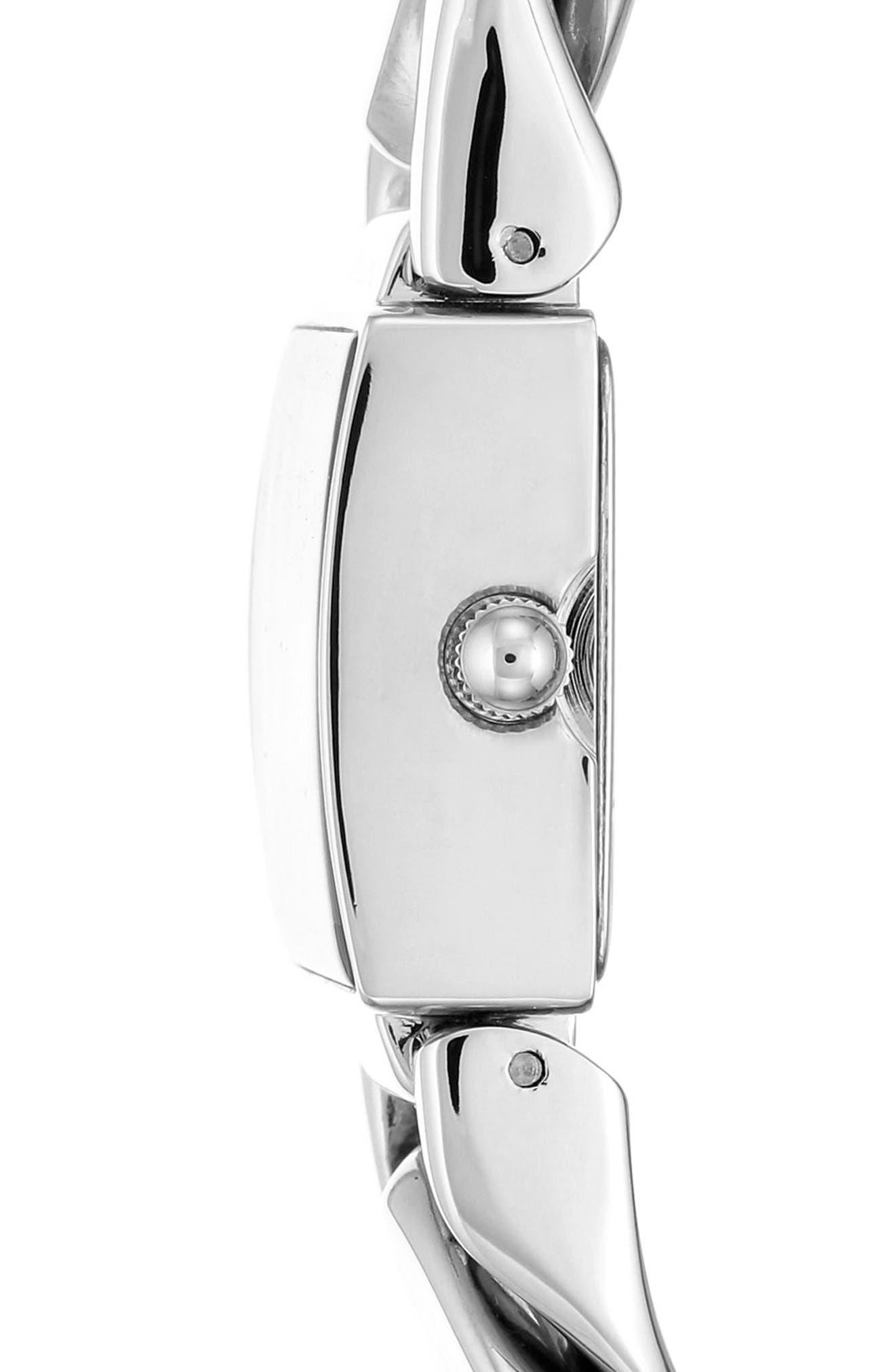 Bracelet Watch, 20.5mm,                             Alternate thumbnail 3, color,                             SILVER