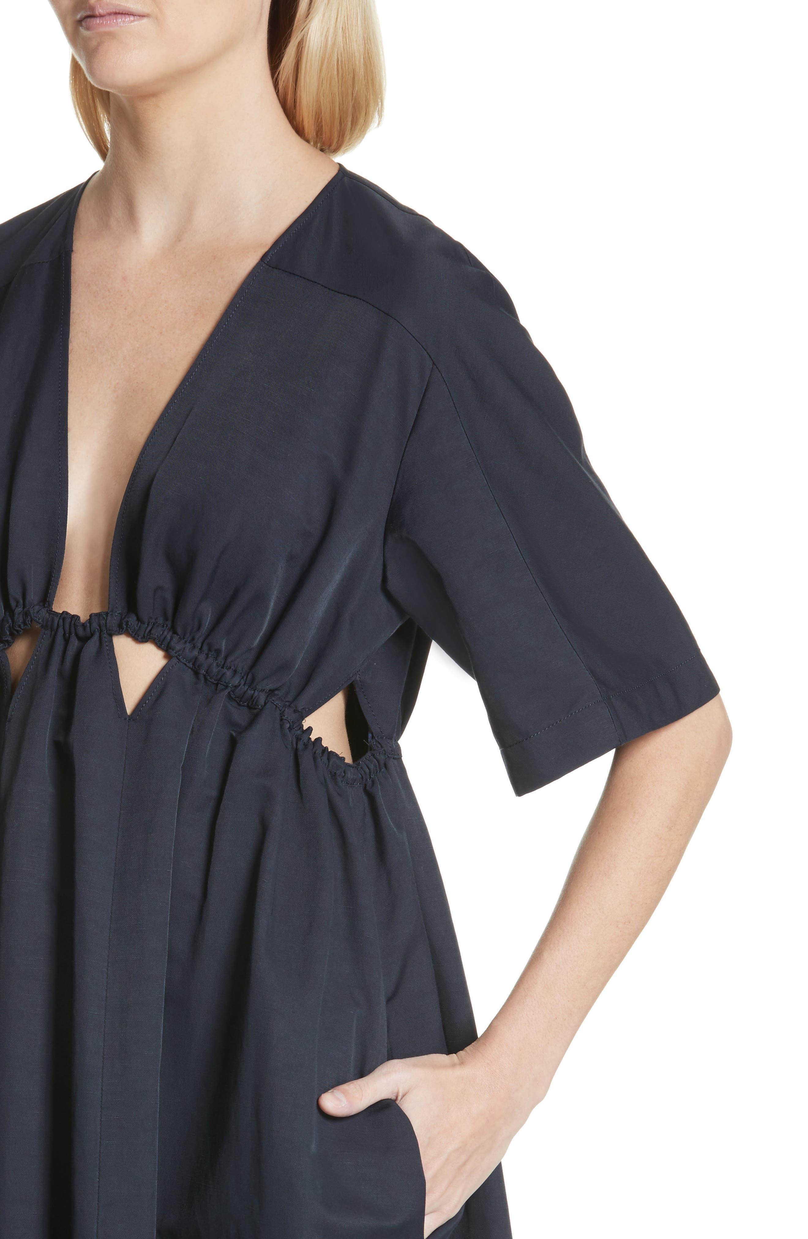 Plunging Cutout Maxi Dress,                             Alternate thumbnail 4, color,                             400