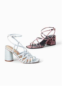 Women's Sam Edelman and Marc Fisher LTD sandals.