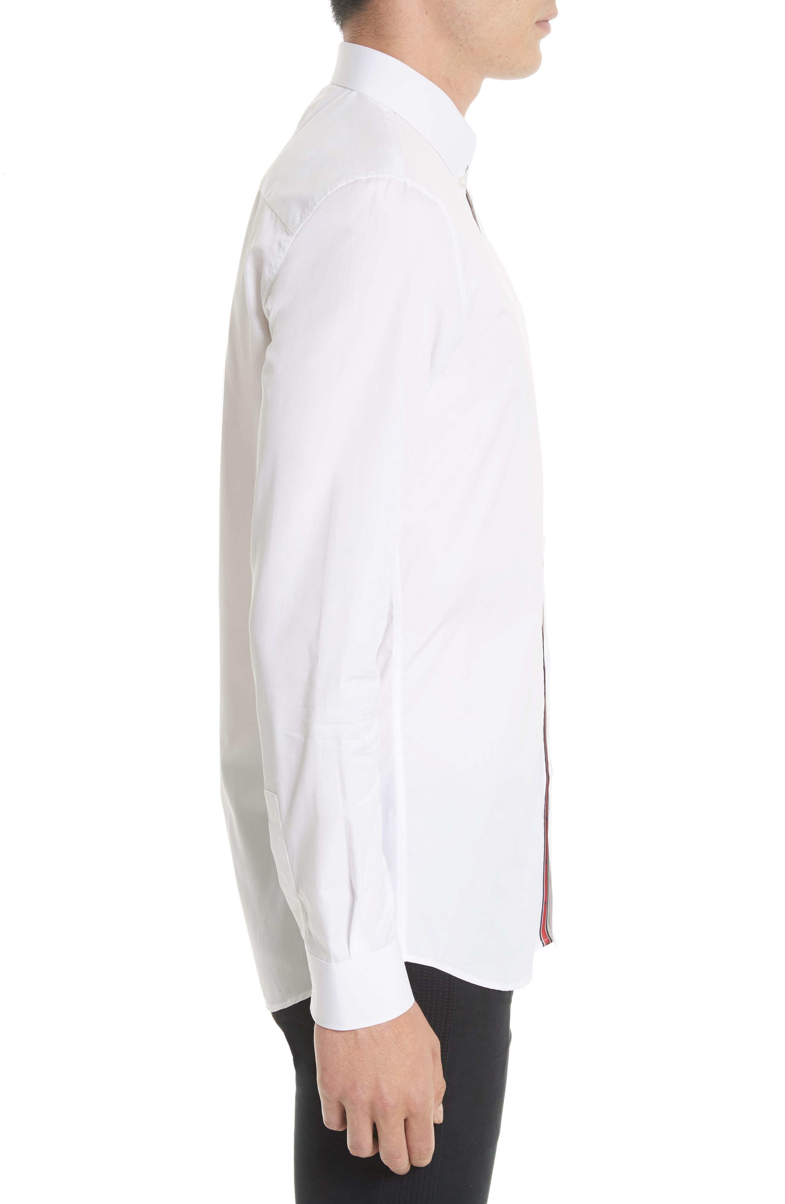 Slim Fit Band Placket Sport Shirt,                             Alternate thumbnail 4, color,                             100