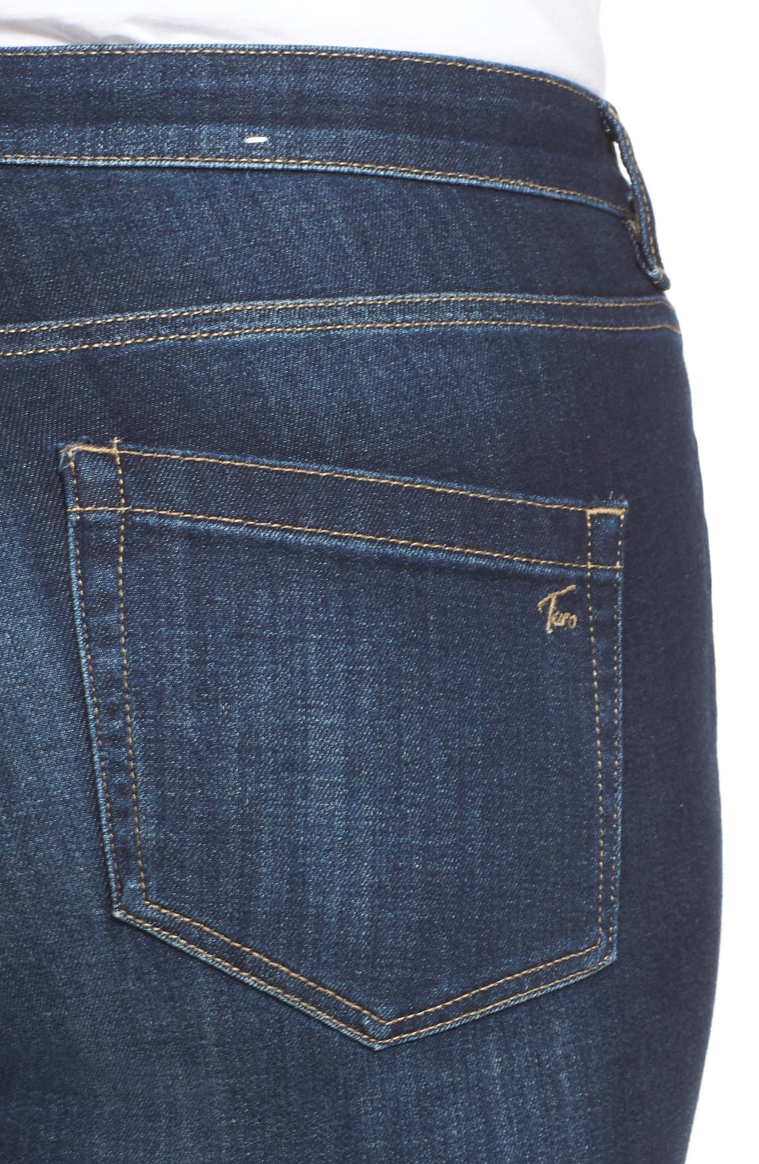 Stretch Skinny Jeans,                             Alternate thumbnail 4, color,                             DARK AUTHENTIC