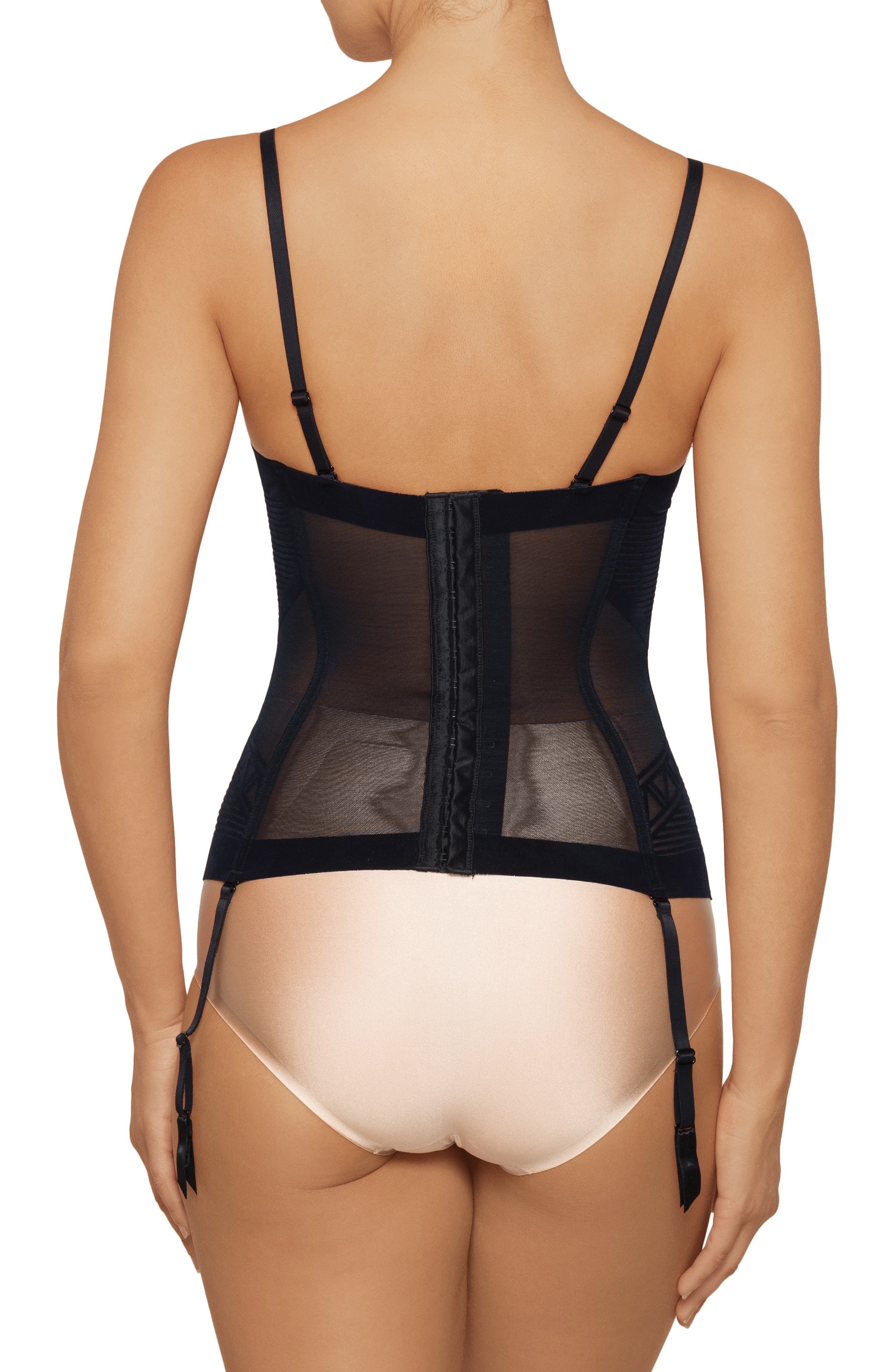 NANCY GANZ,                             Enchanté Convertible Strapless Corset,                             Alternate thumbnail 2, color,                             001