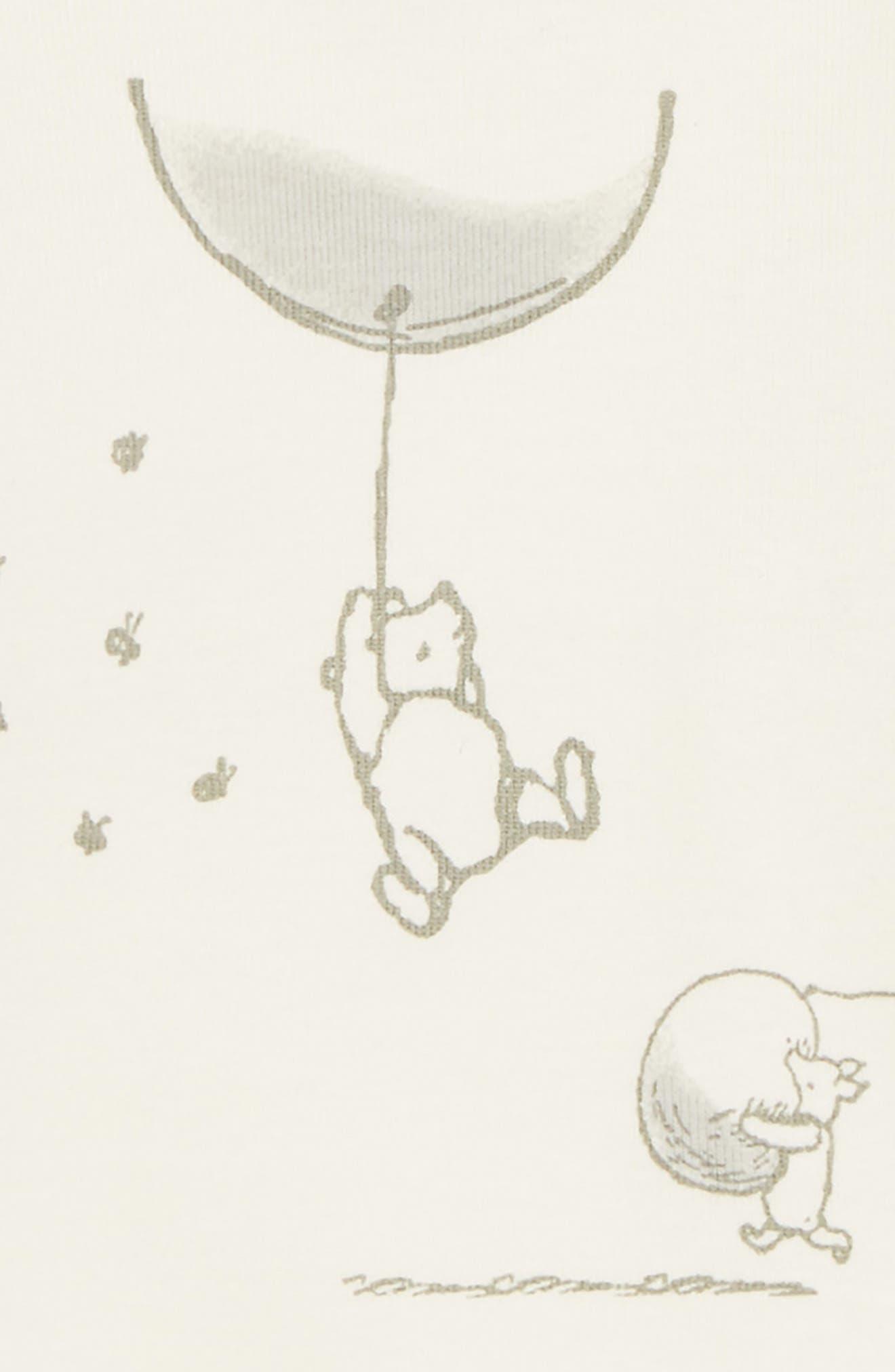 x Disney<sup>®</sup> Winnie the Pooh Organic Cotton Bodysuit,                             Alternate thumbnail 2, color,                             903
