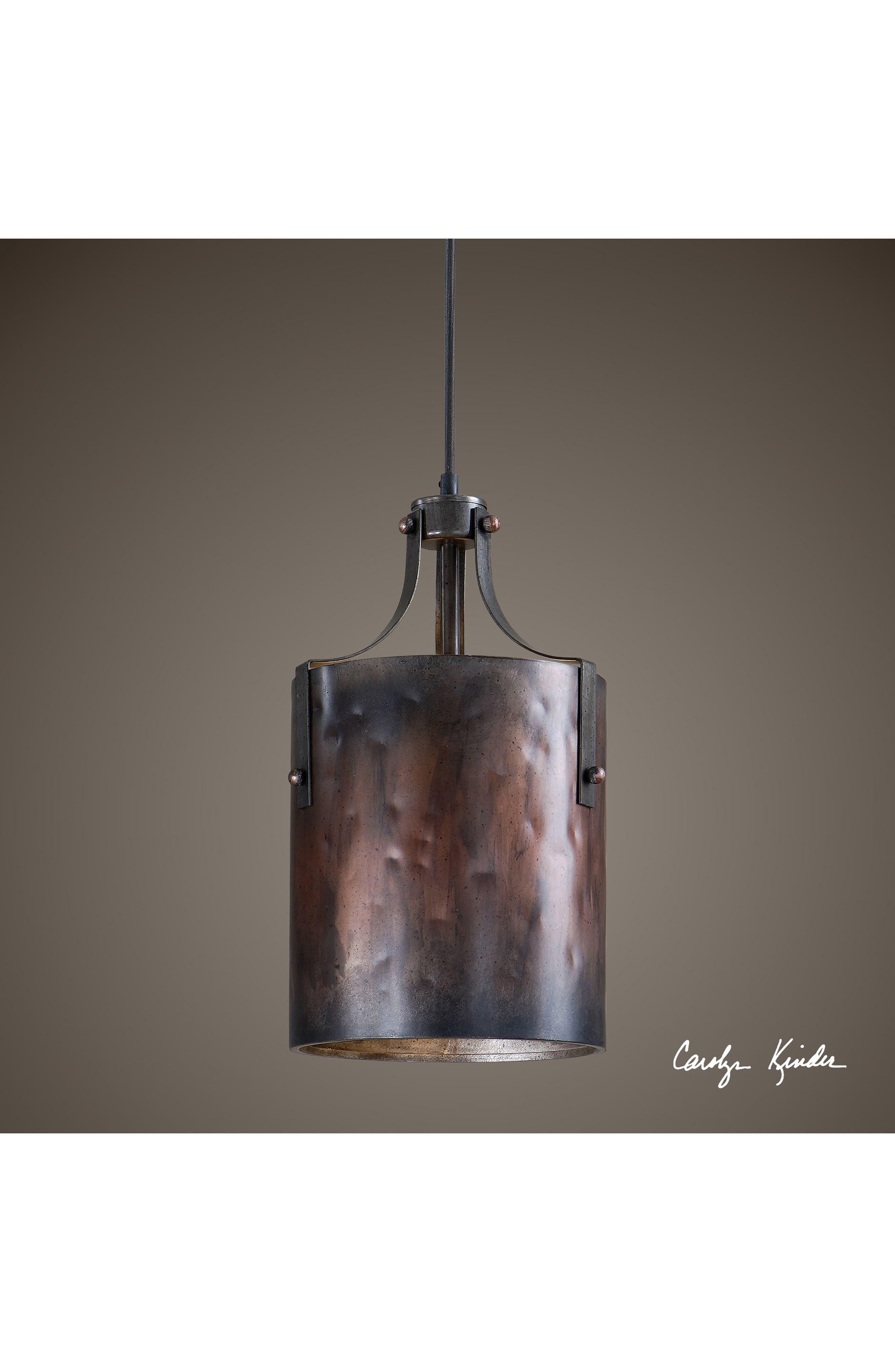 'Akron' One Light Copper Mini Pendant Lamp,                             Alternate thumbnail 2, color,                             220