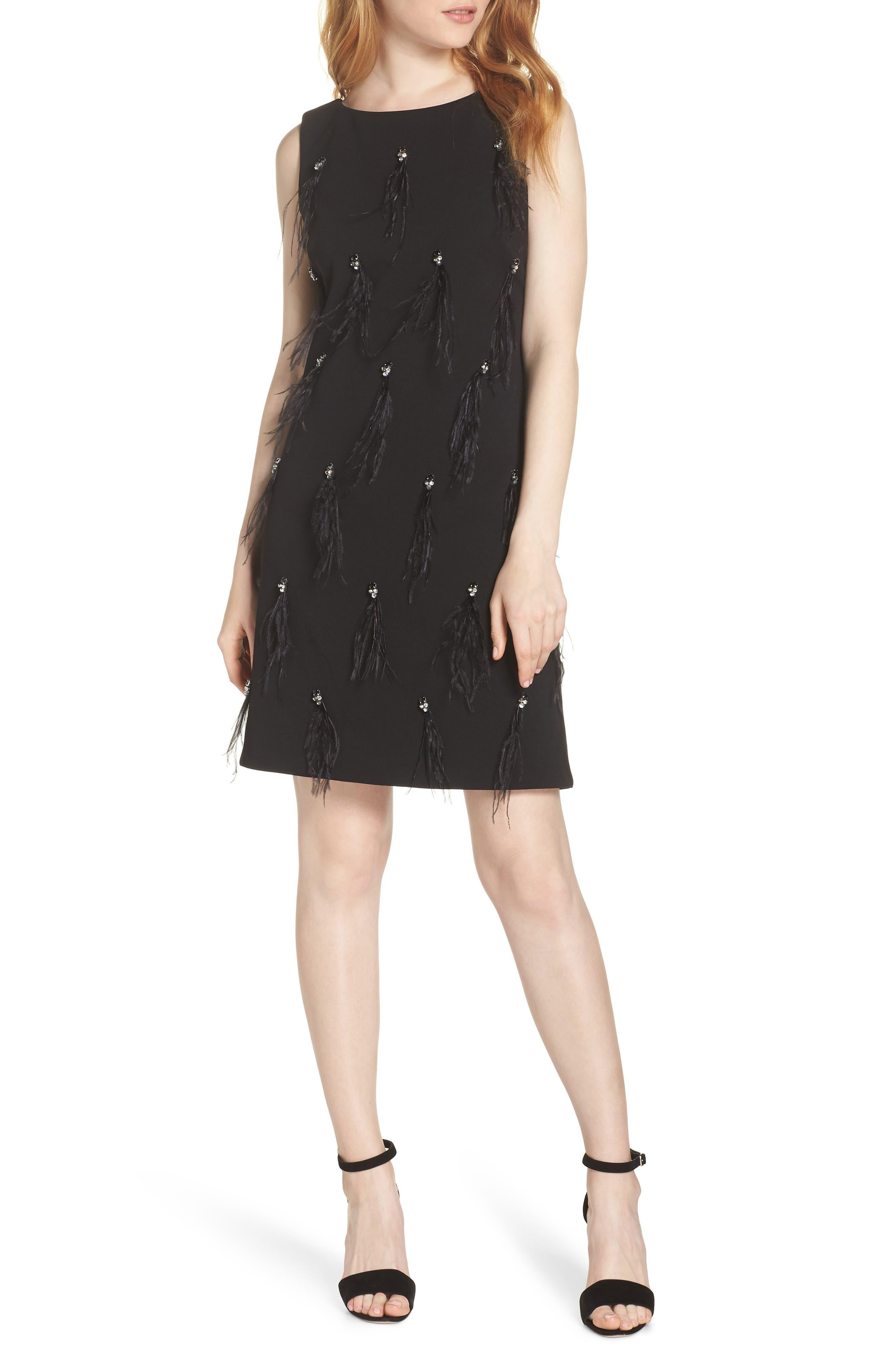 HARPER ROSE,                             Embellished Sheath Dress,                             Main thumbnail 1, color,                             BLACK