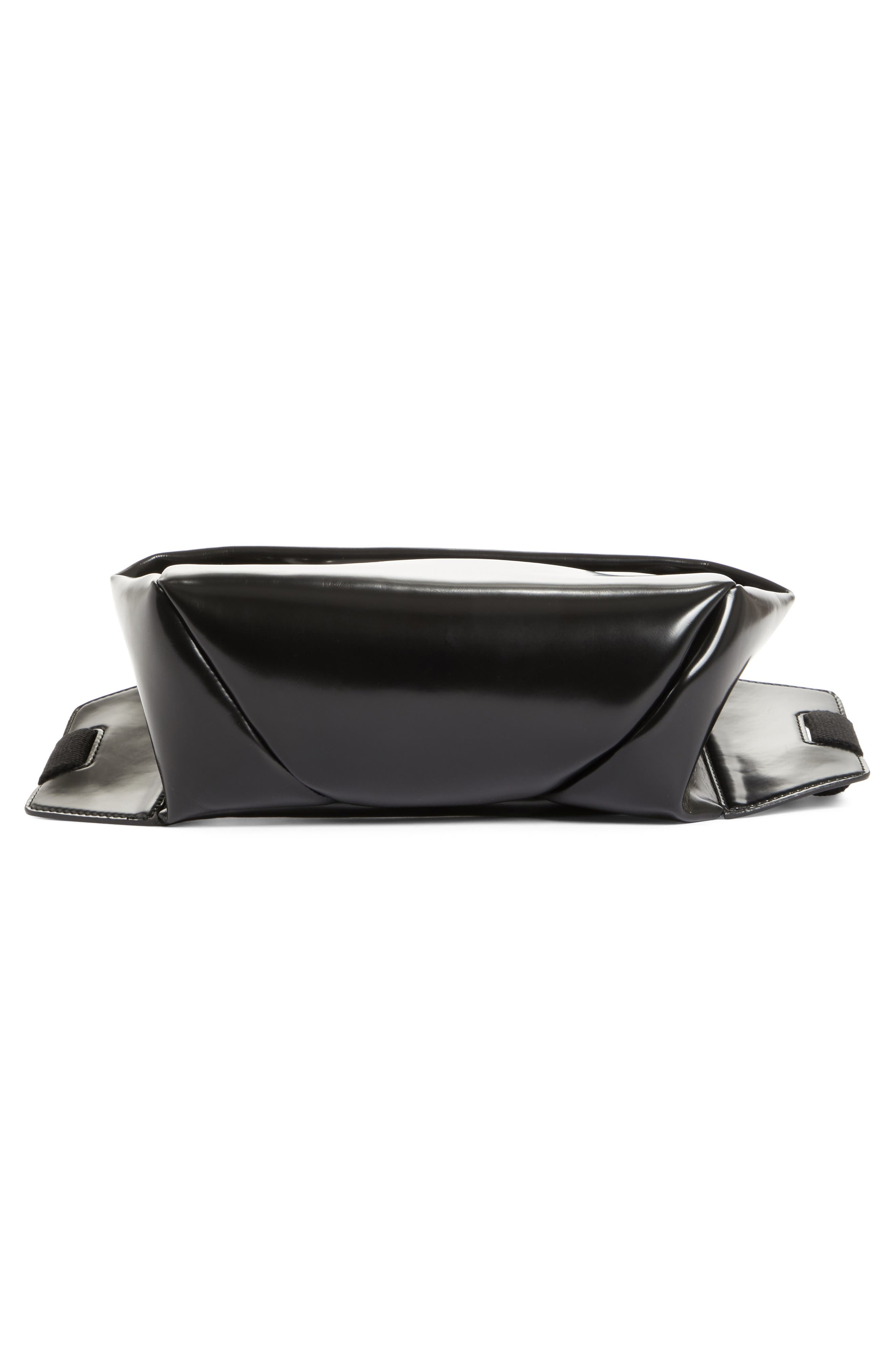 PSWL Faux Leather Fanny Pack,                             Alternate thumbnail 6, color,                             BLACK