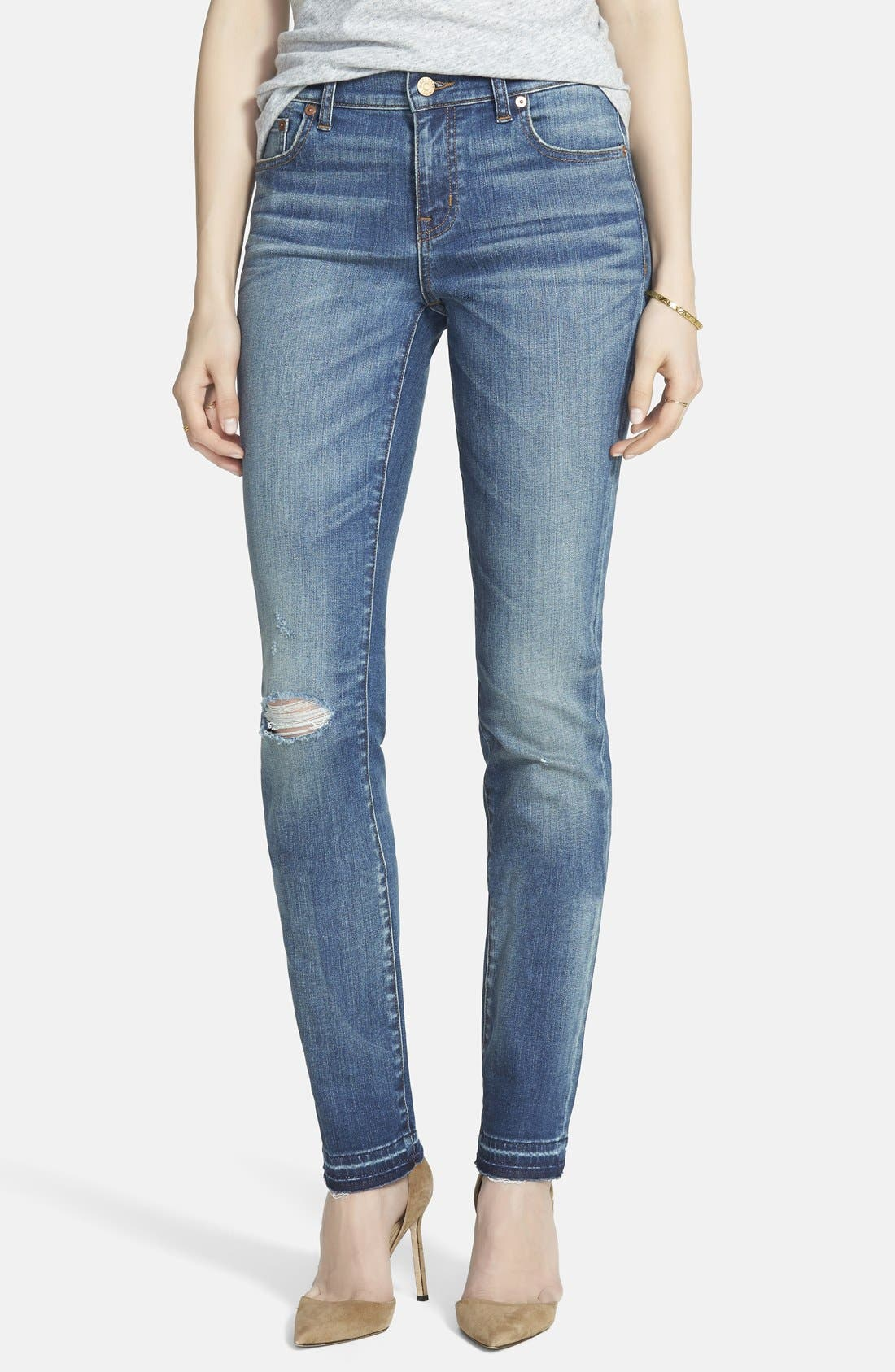 'Alley' Straight Leg Jeans, Main, color, 400