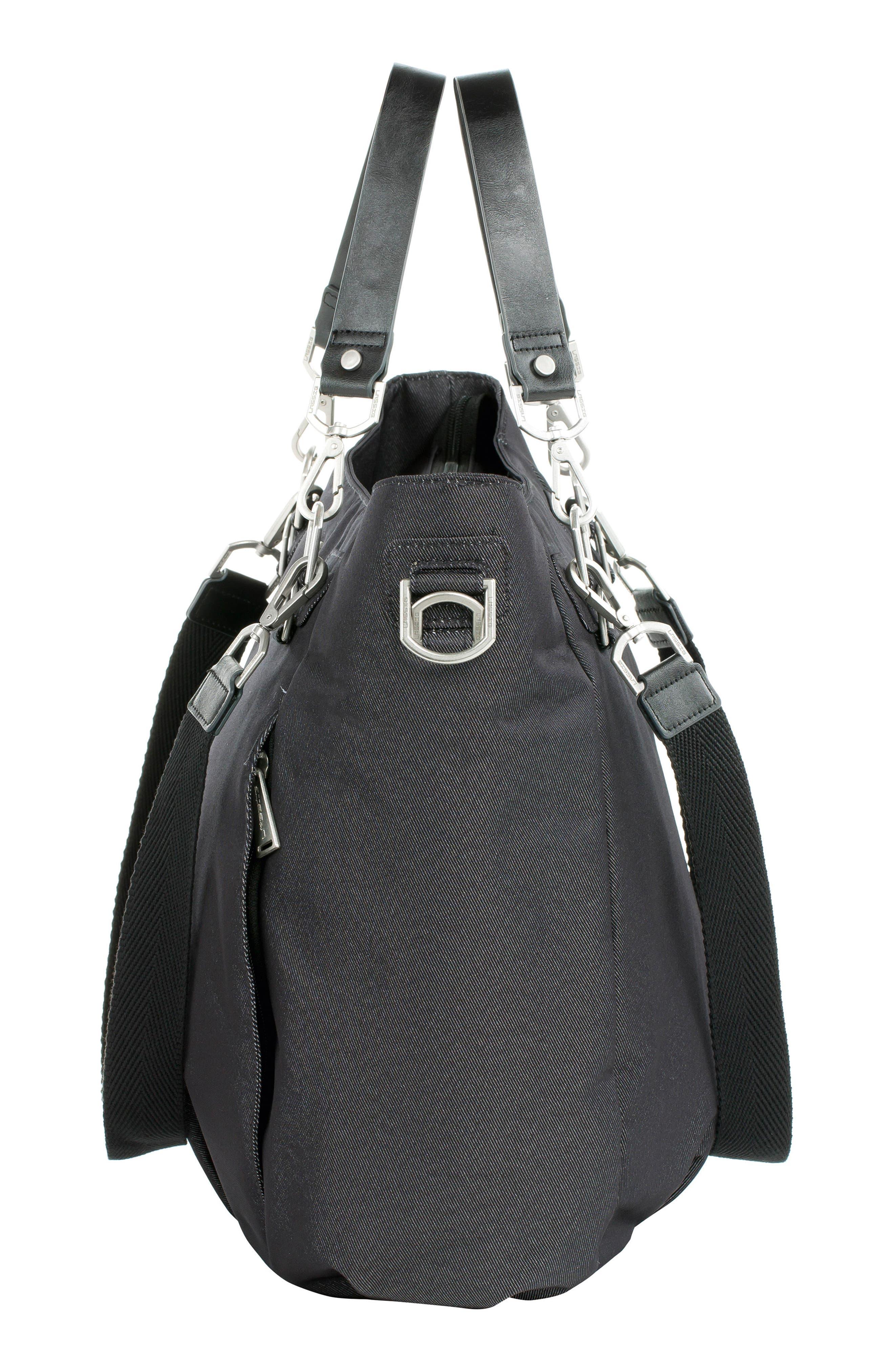 Mix 'N Match Denim Diaper Bag,                             Alternate thumbnail 3, color,                             BLACK
