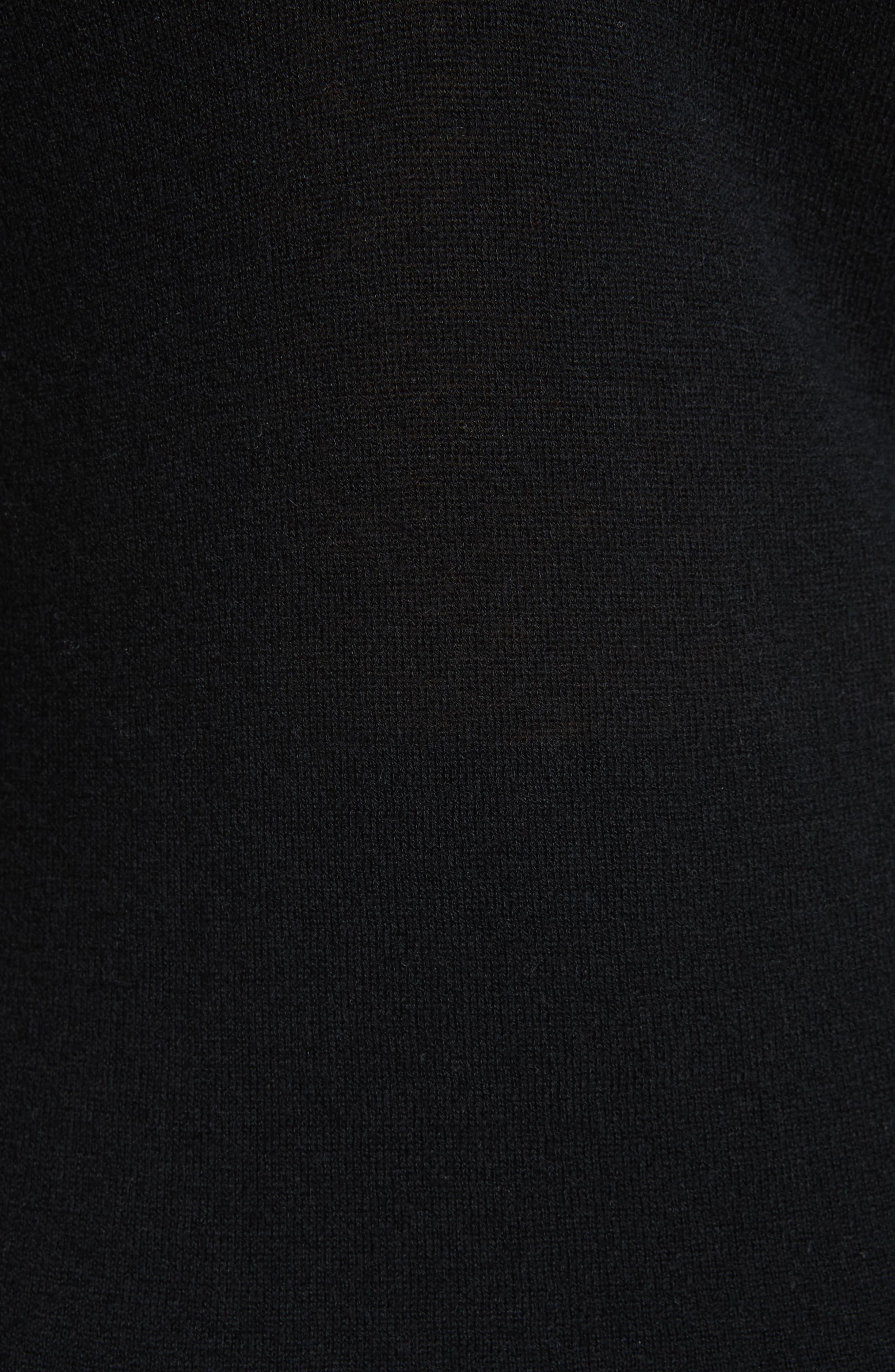 Cashmere V-Back Cashmere Sweater,                             Alternate thumbnail 5, color,                             001