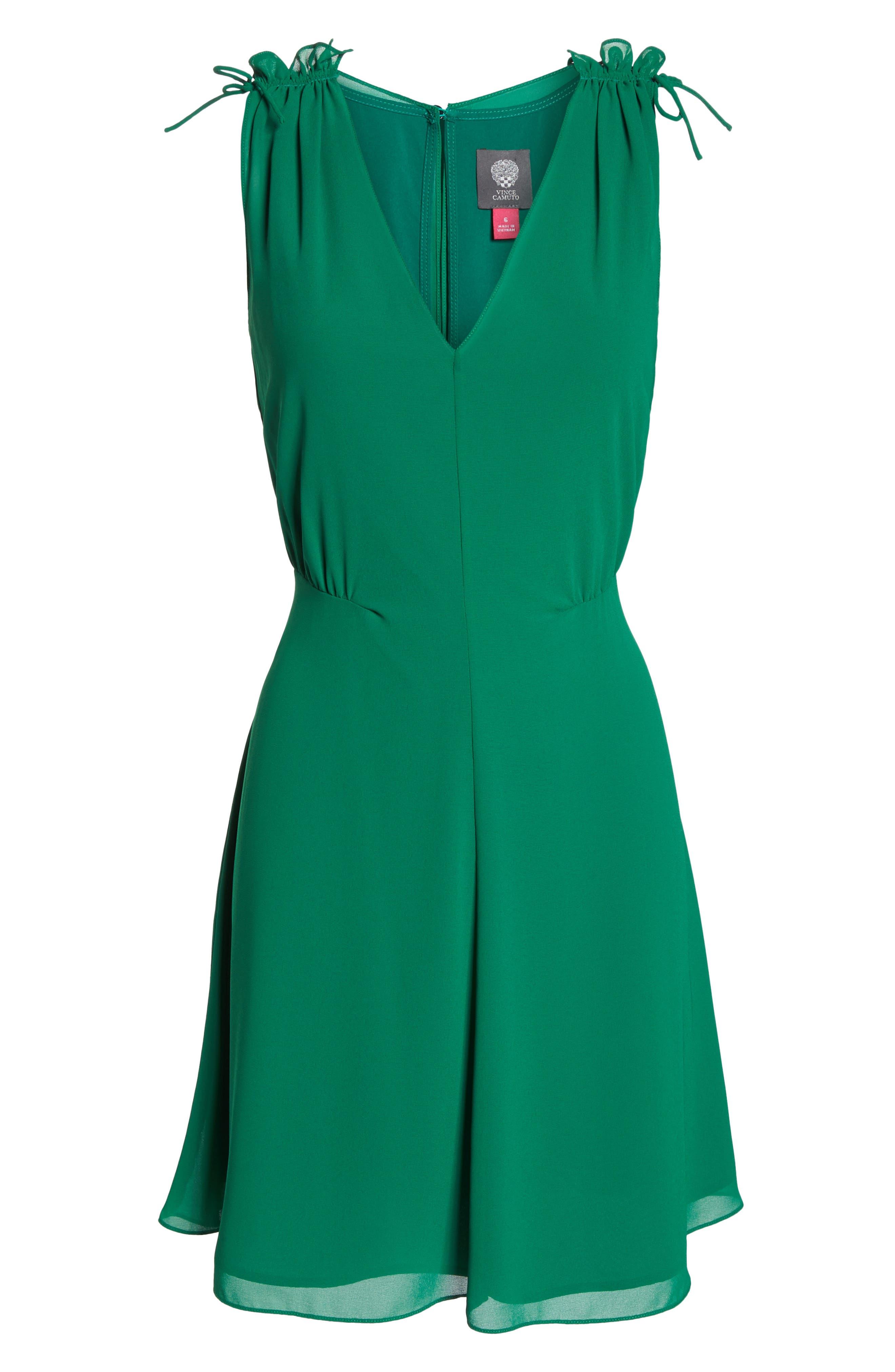 Soufflé V-Neck Chiffon Dress,                             Alternate thumbnail 7, color,                             310