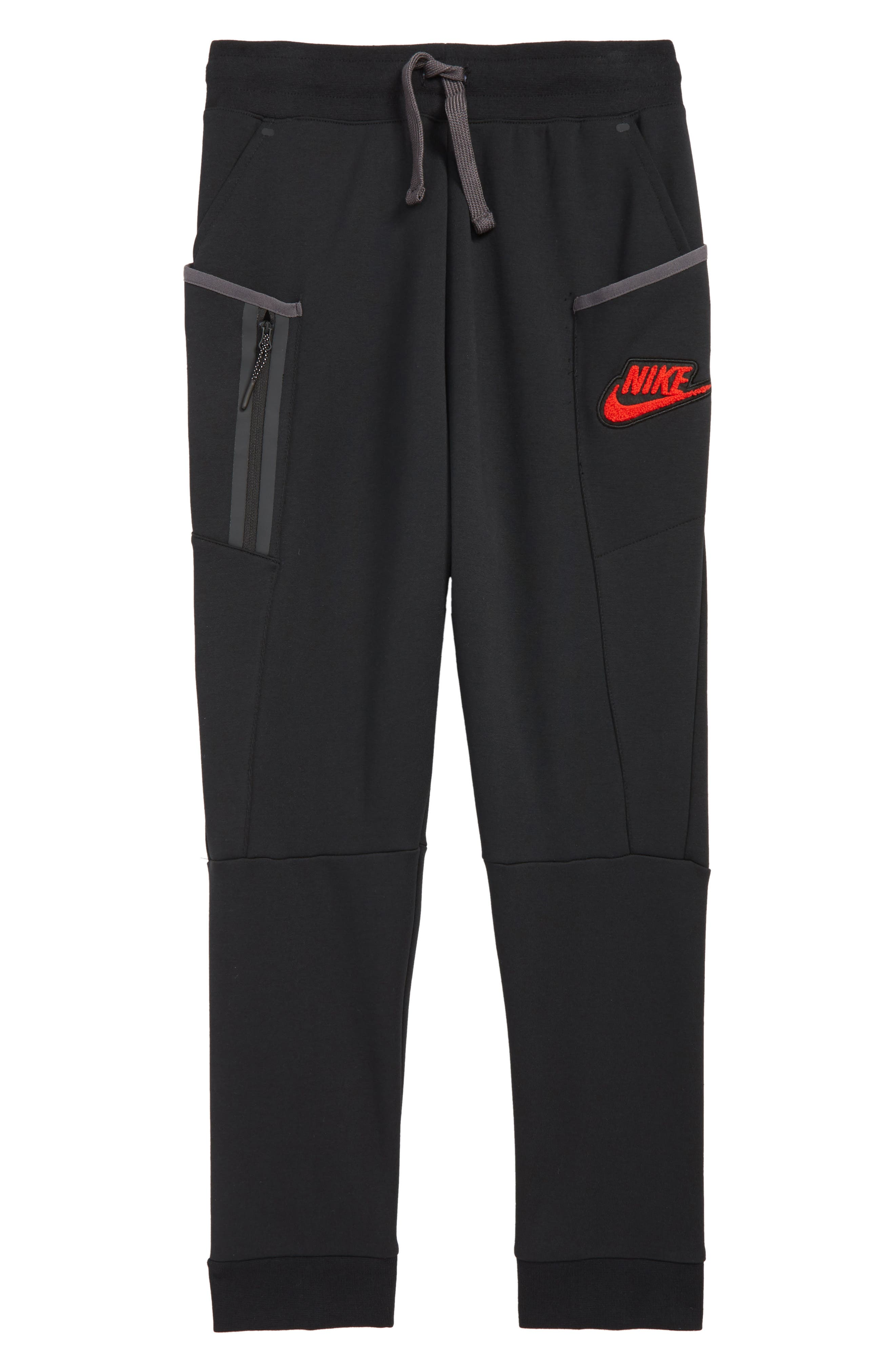 Sportswear Tech Fleece Pants, Main, color, BLACK/ THUNDER GREY