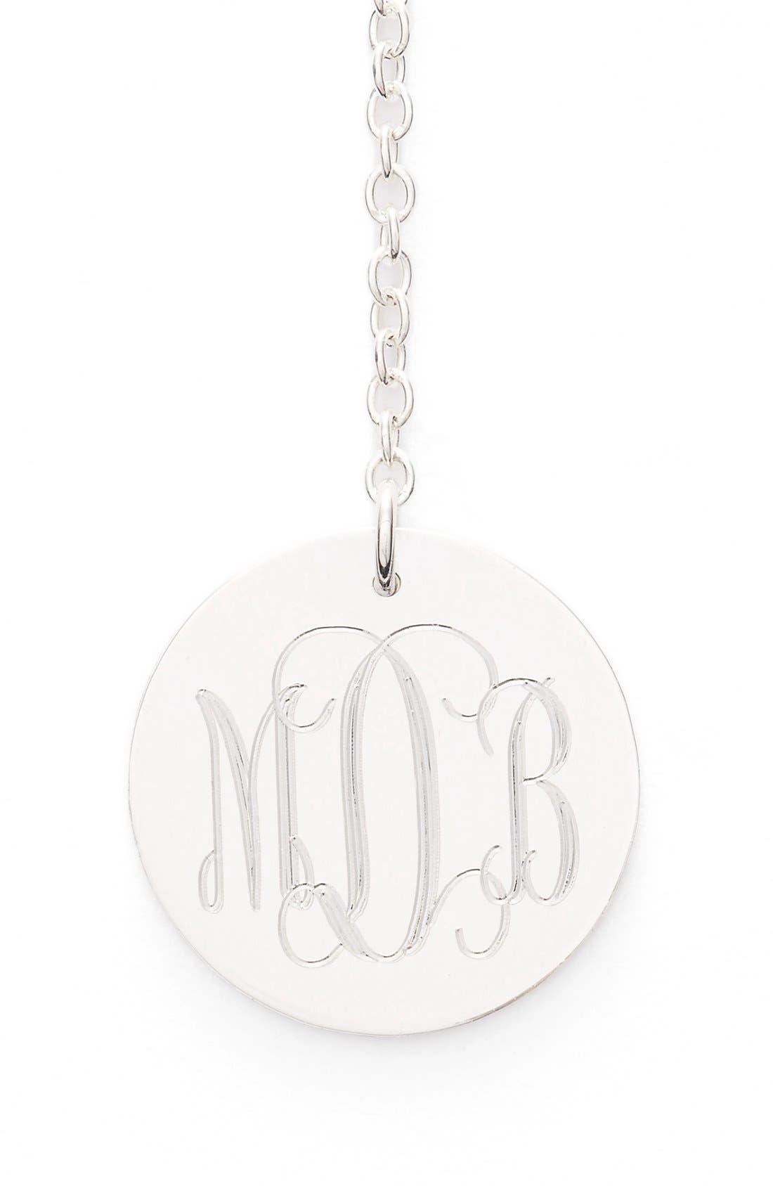 Diamond & Personalized Monogram Y-Necklace,                             Alternate thumbnail 6, color,
