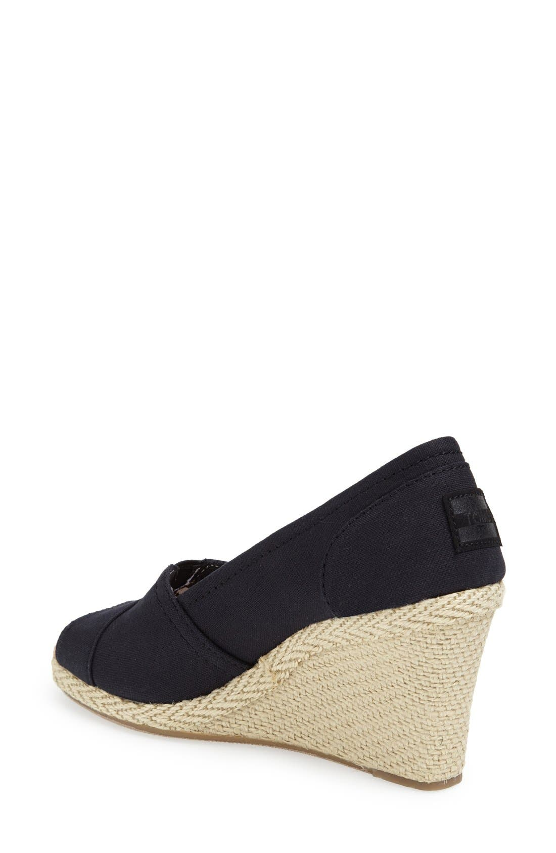 'Calypso' Canvas Wedge,                             Alternate thumbnail 2, color,                             001