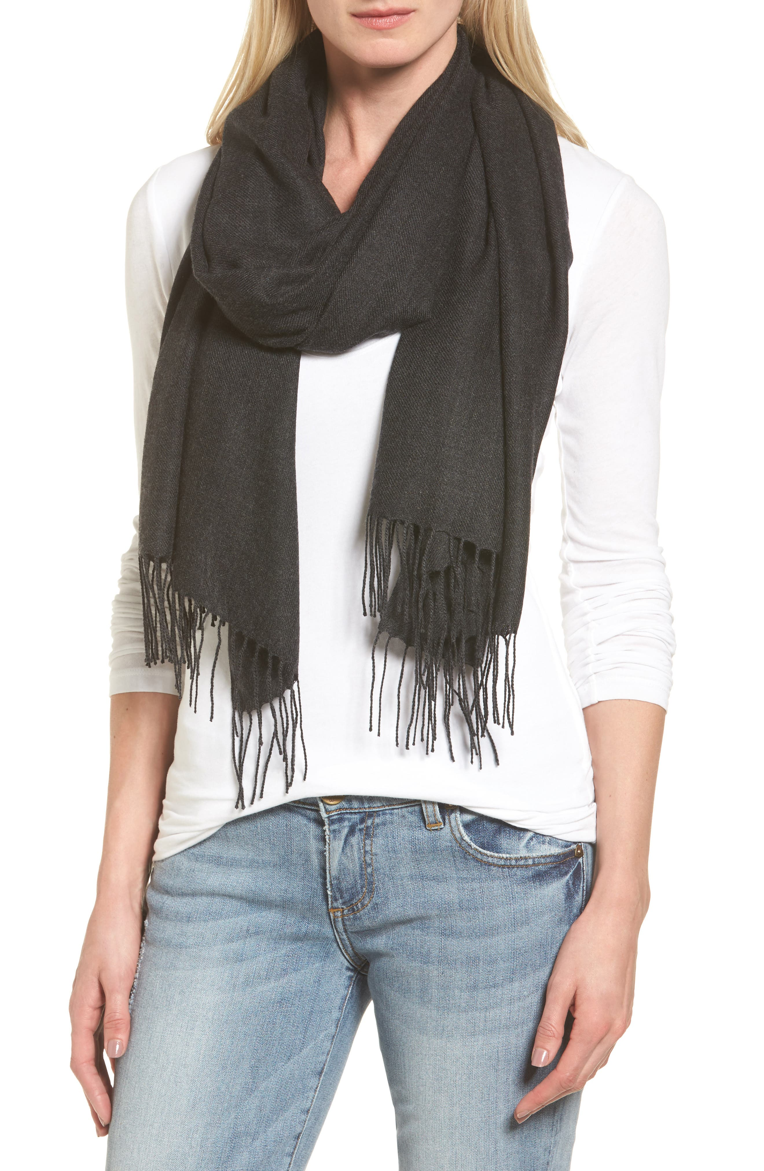 Tissue Weight Wool & Cashmere Scarf,                             Main thumbnail 14, color,