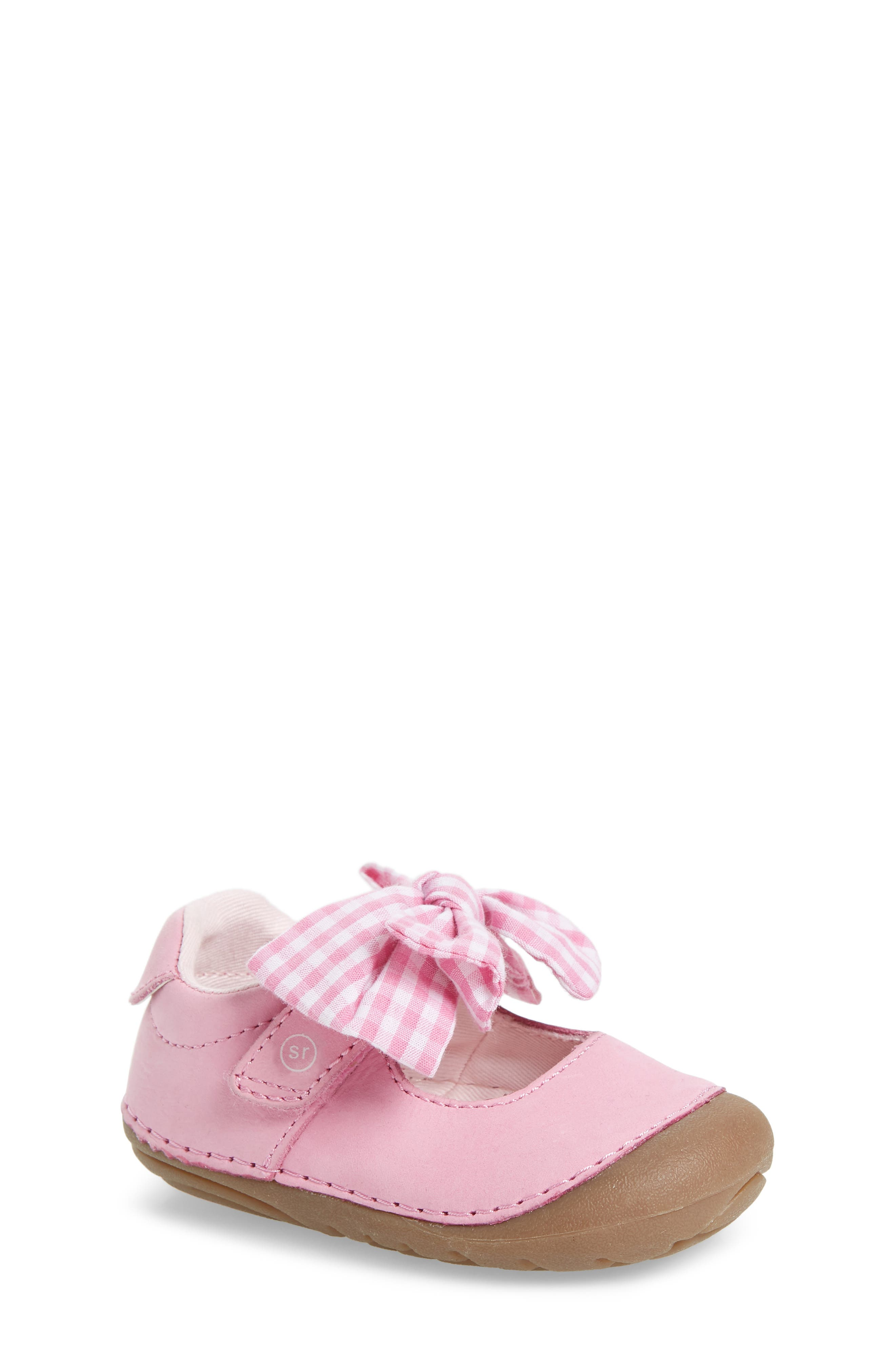 Soft Motion<sup>™</sup> Esme Mary Jane,                             Main thumbnail 1, color,                             PINK GINGHAM
