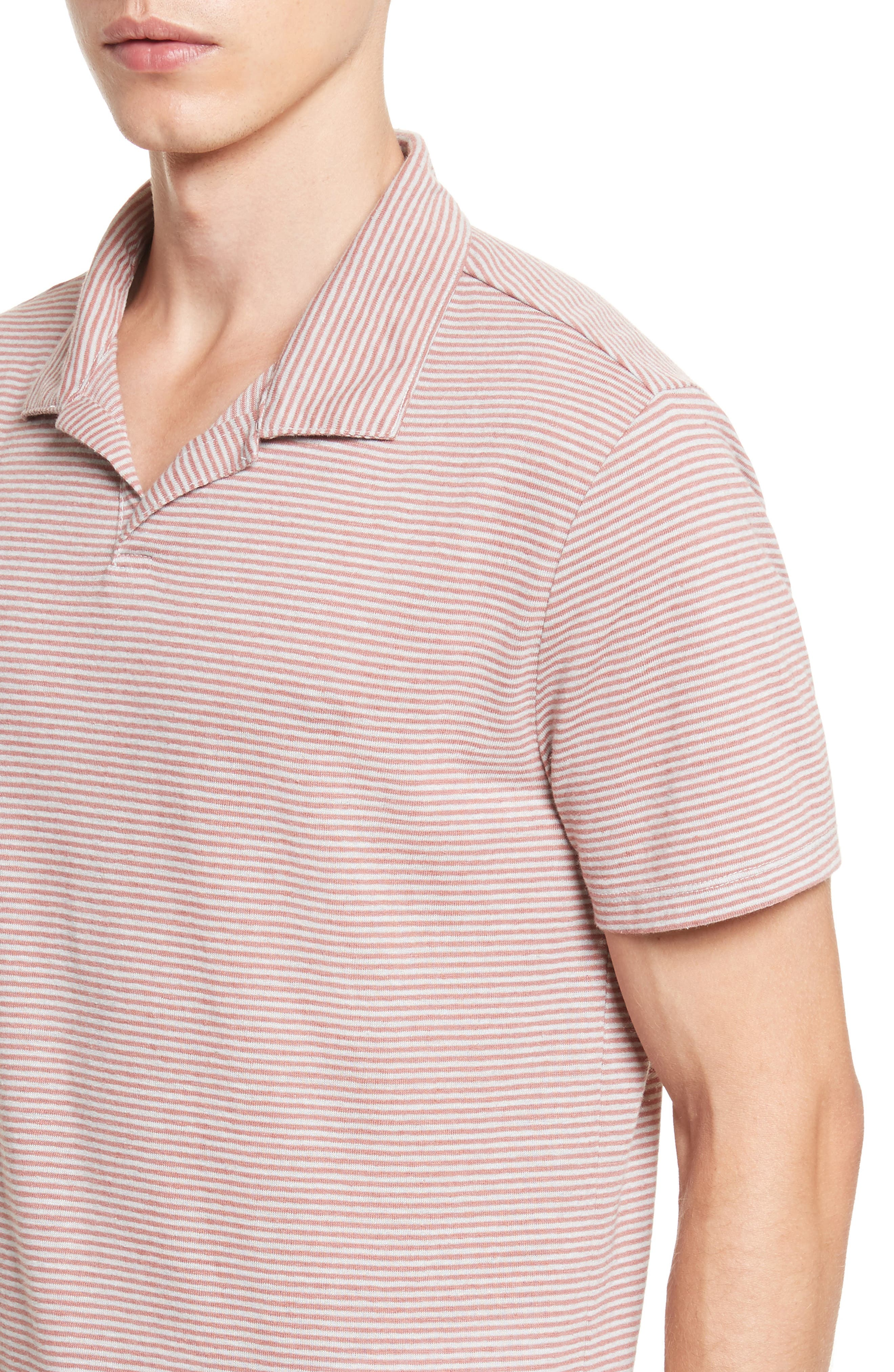 Shaun Linen Blend Polo,                             Alternate thumbnail 4, color,                             651