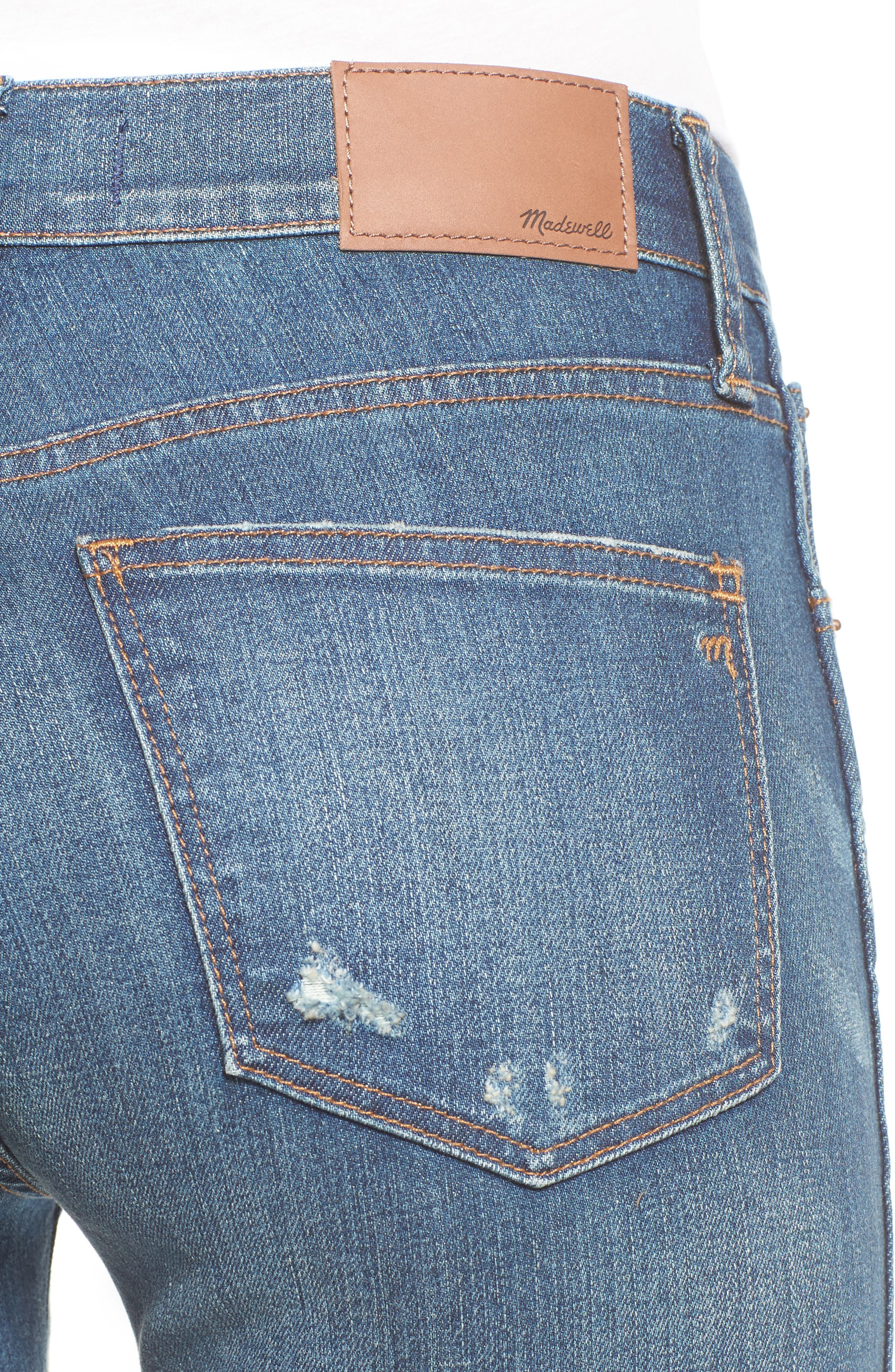 High 9-Inch High-Rise Skinny Jeans: Ripped and Patched Edition,                             Alternate thumbnail 4, color,