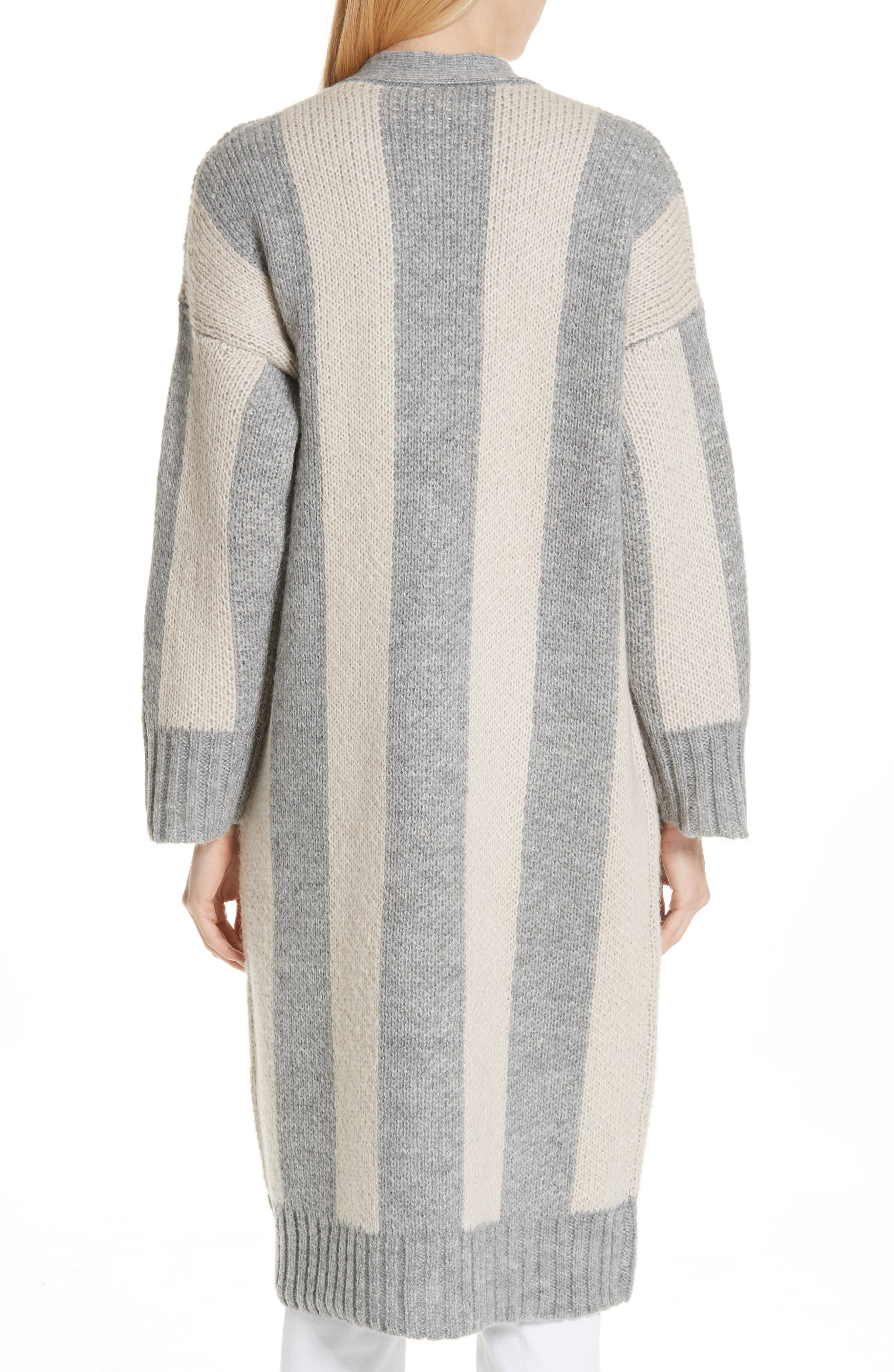 The Duster Sweater,                             Alternate thumbnail 2, color,                             HEATHER GREY STRIPE